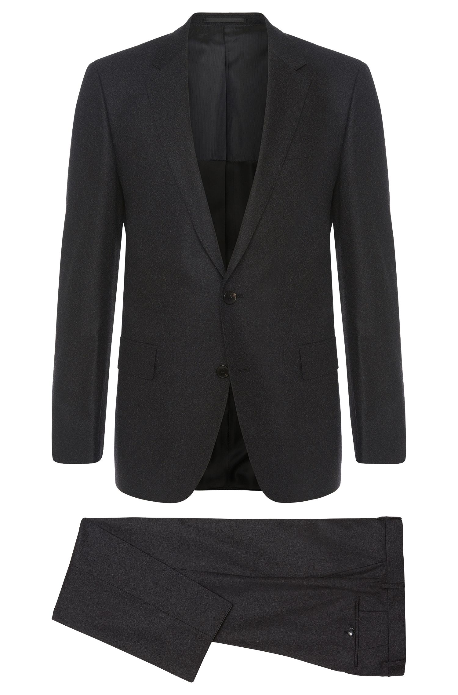 Slim-fit suit in stretch new-wool blend with cashmere: 'Huge4/Genesis3'
