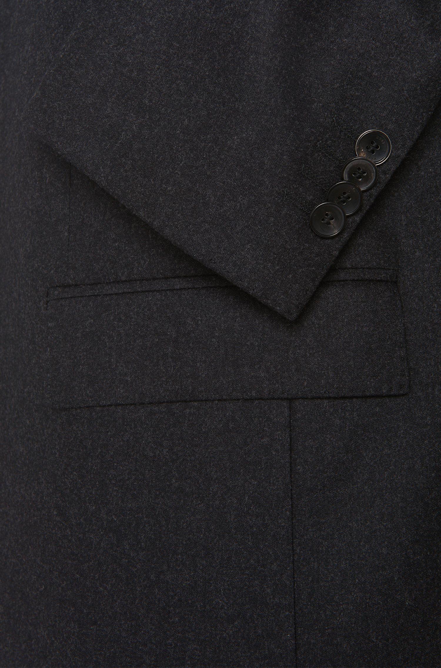 Costume Slim Fit en laine vierge mélangée extensible à teneur en cachemire: «Huge4/Genesis3»