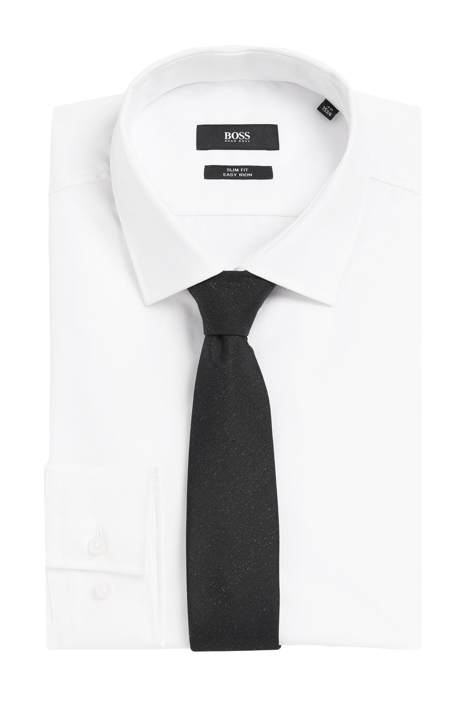 Schimmernde Krawatte aus Seiden-Mix mit Wolle: 'Tie 6 cm'