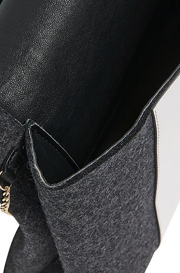 Clutch aus Filz mit Lederbesatz: 'Luxury Staple C-PF', Anthrazit