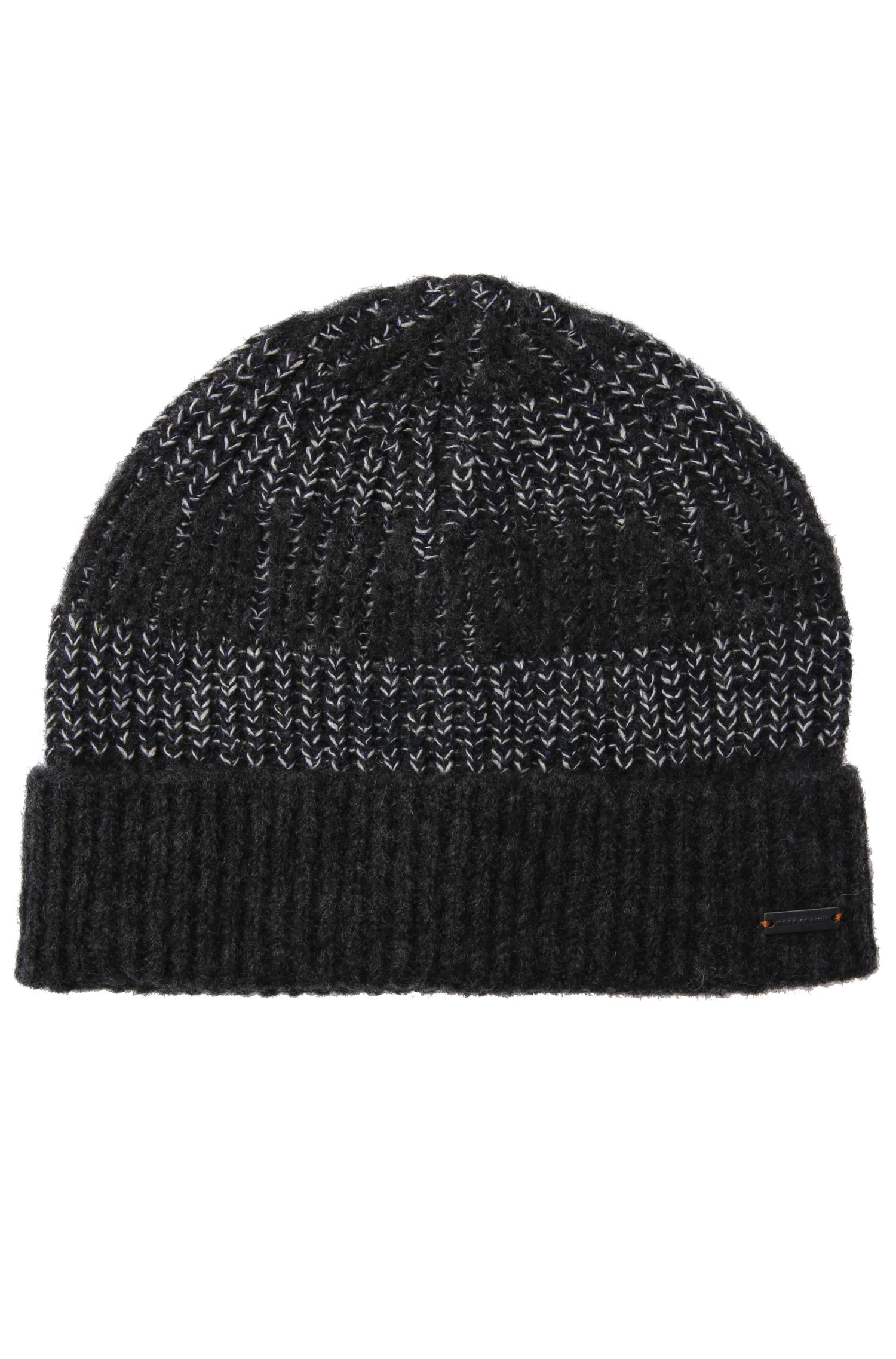 Beanie in a fabric blend with wool, alpaca, viscose and silk: 'Kreany'