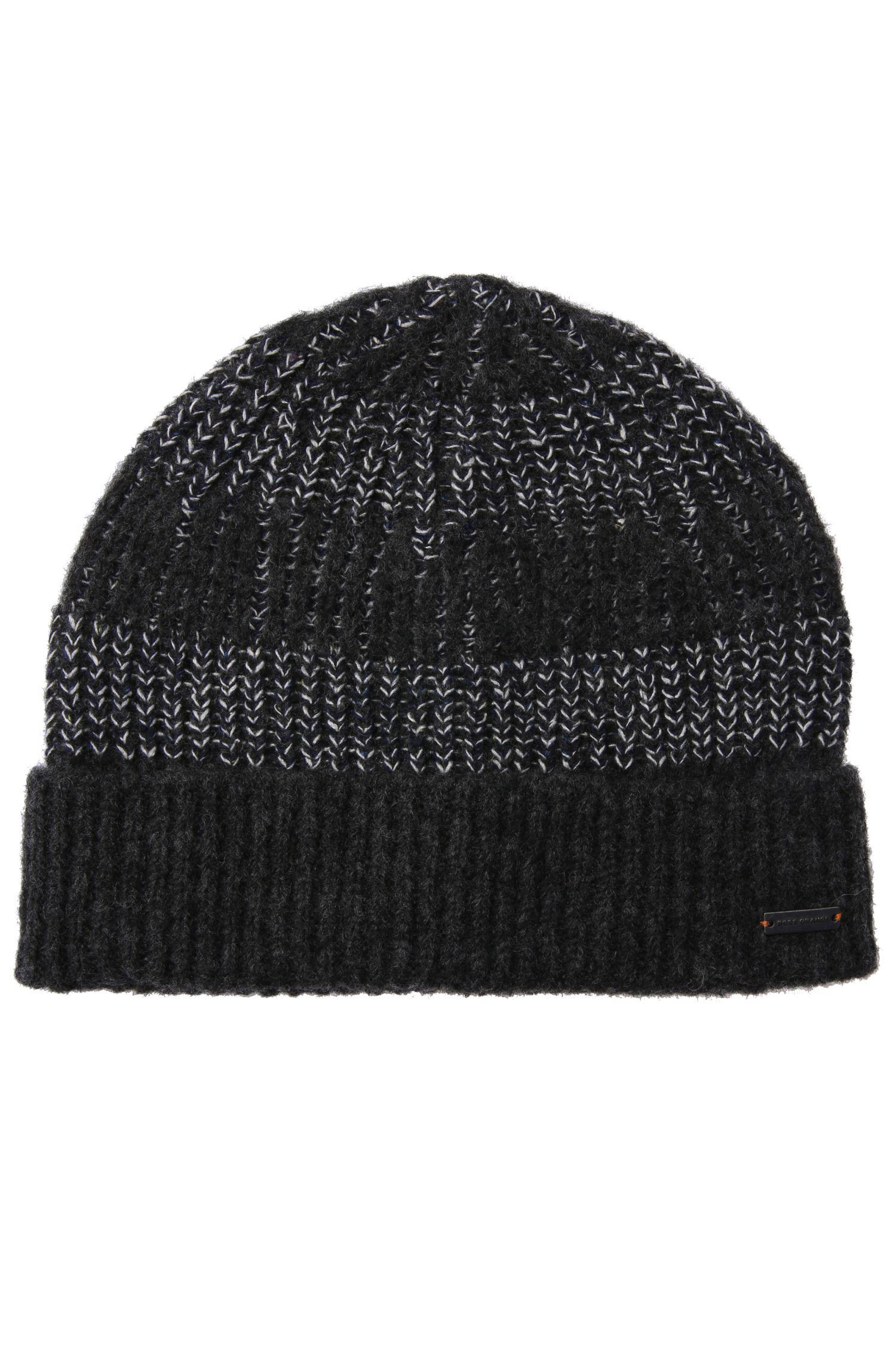 Mütze aus Material-Mix mit Wolle, Alpaka, Viskose und Seide: ´Kreany`