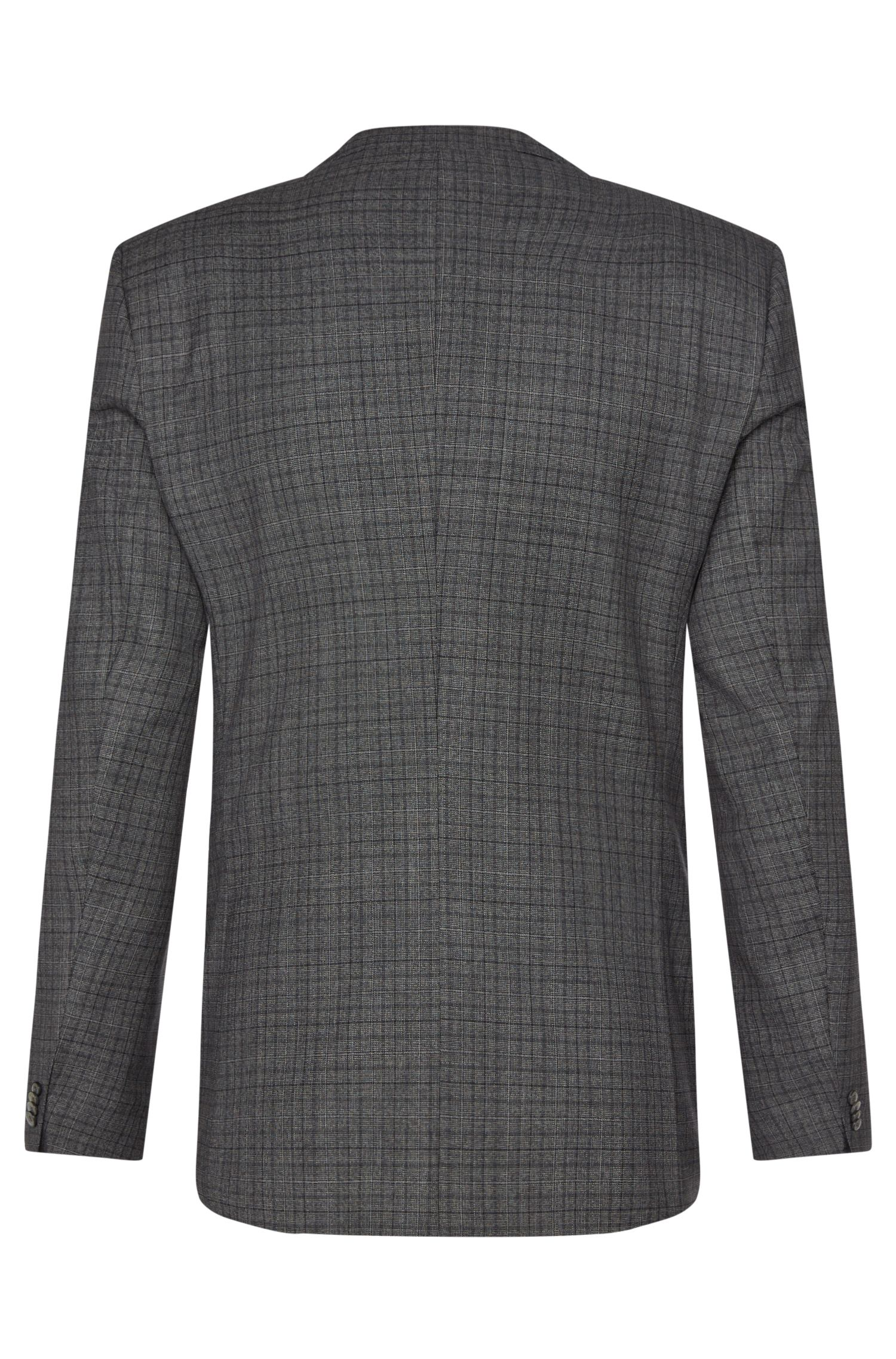 Costume Slim Fit à carreaux en pure laine vierge : « Hutson3/Gander1 »