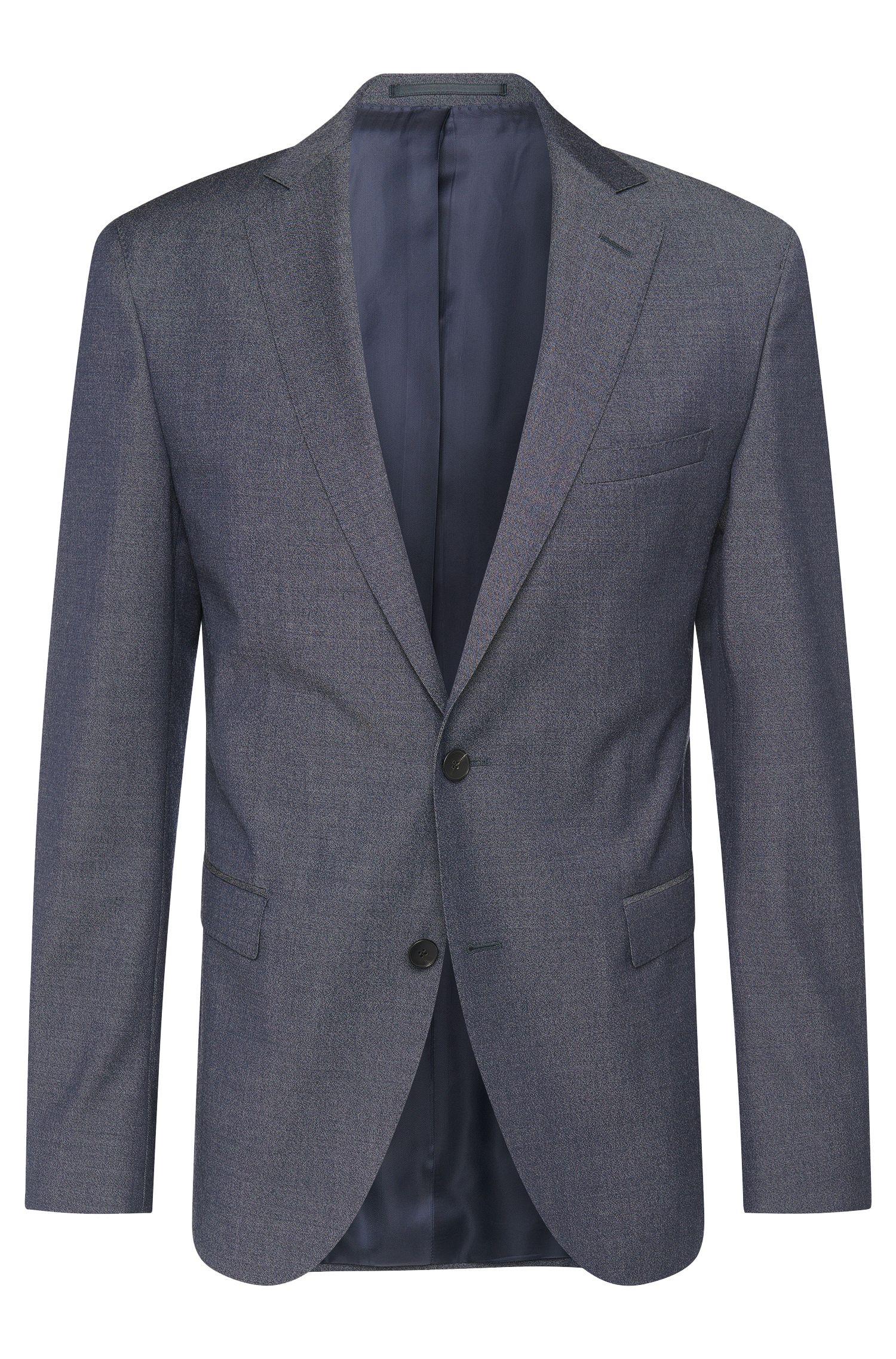 Extra Slim-Fit Anzug aus Schurwolle mit umgeschlagenen Beinabschlüssen: 'Reyno2/Wave1'