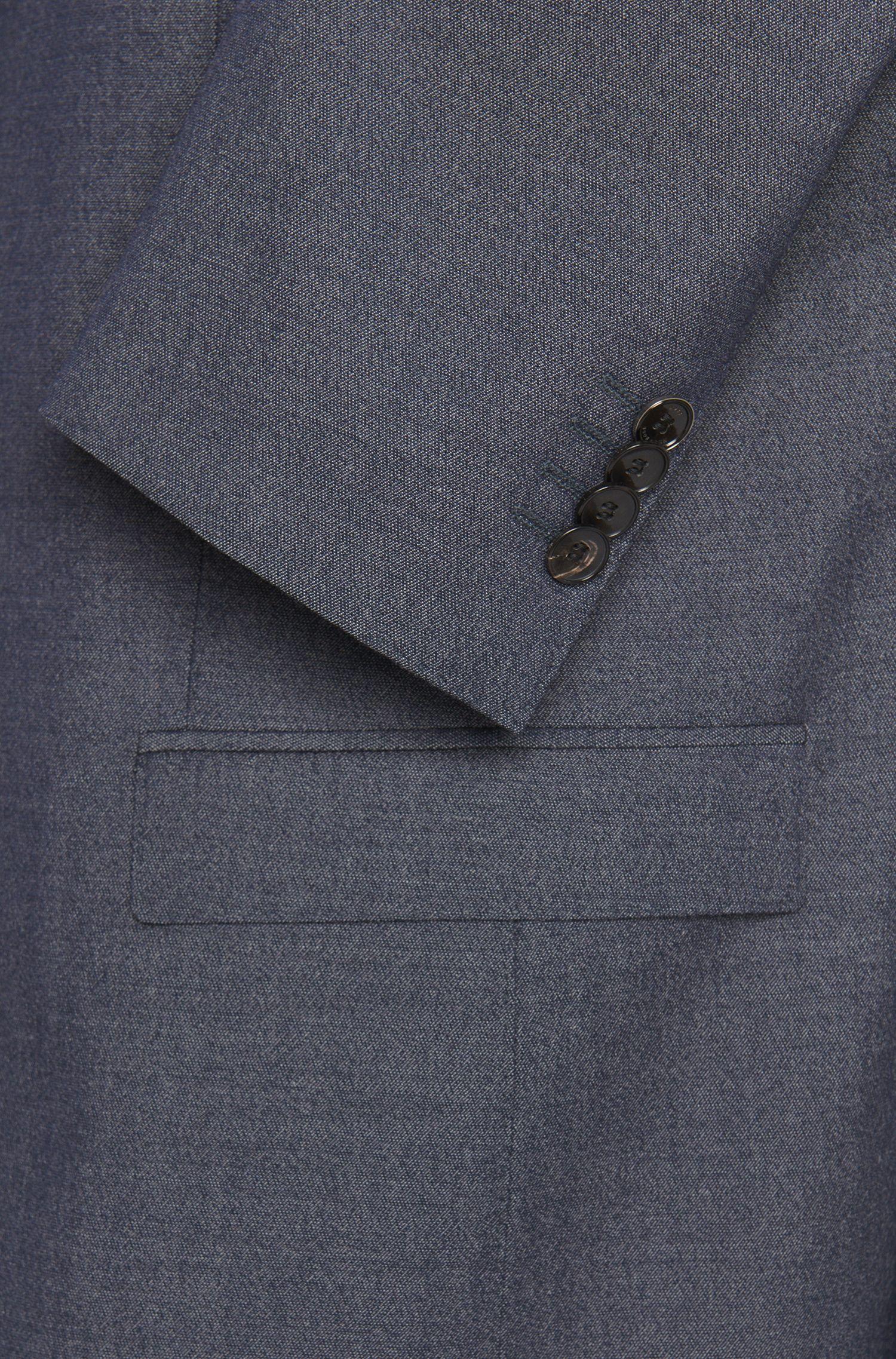 Costume Extra Slim Fit en laine vierge, avec un pantalon à revers: «Reyno2/Wave1»