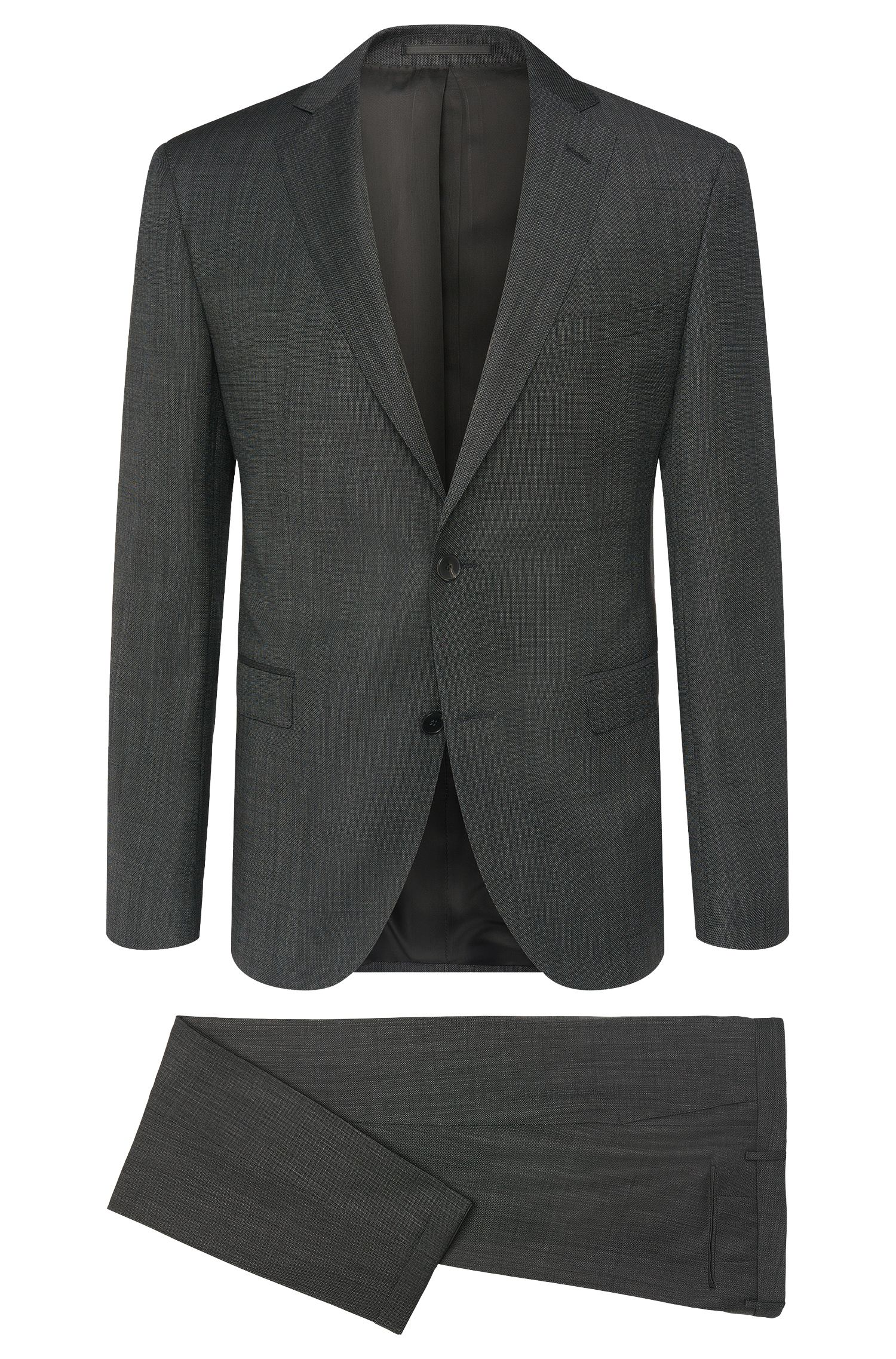 Extra-slim-fit suit in new-wool blend with cashmere: 'Reyno2/Wave1'