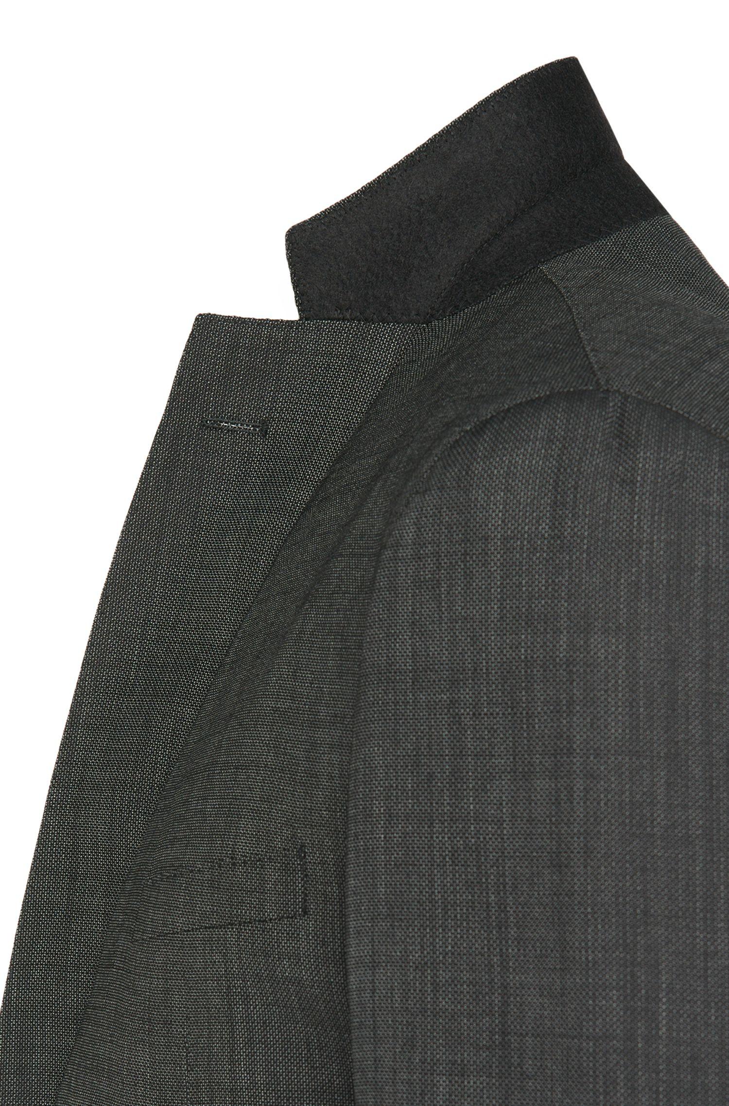 Costume Extra Slim Fit en laine vierge mélangée à teneur en cachemire: «Reyno2/Wave1»