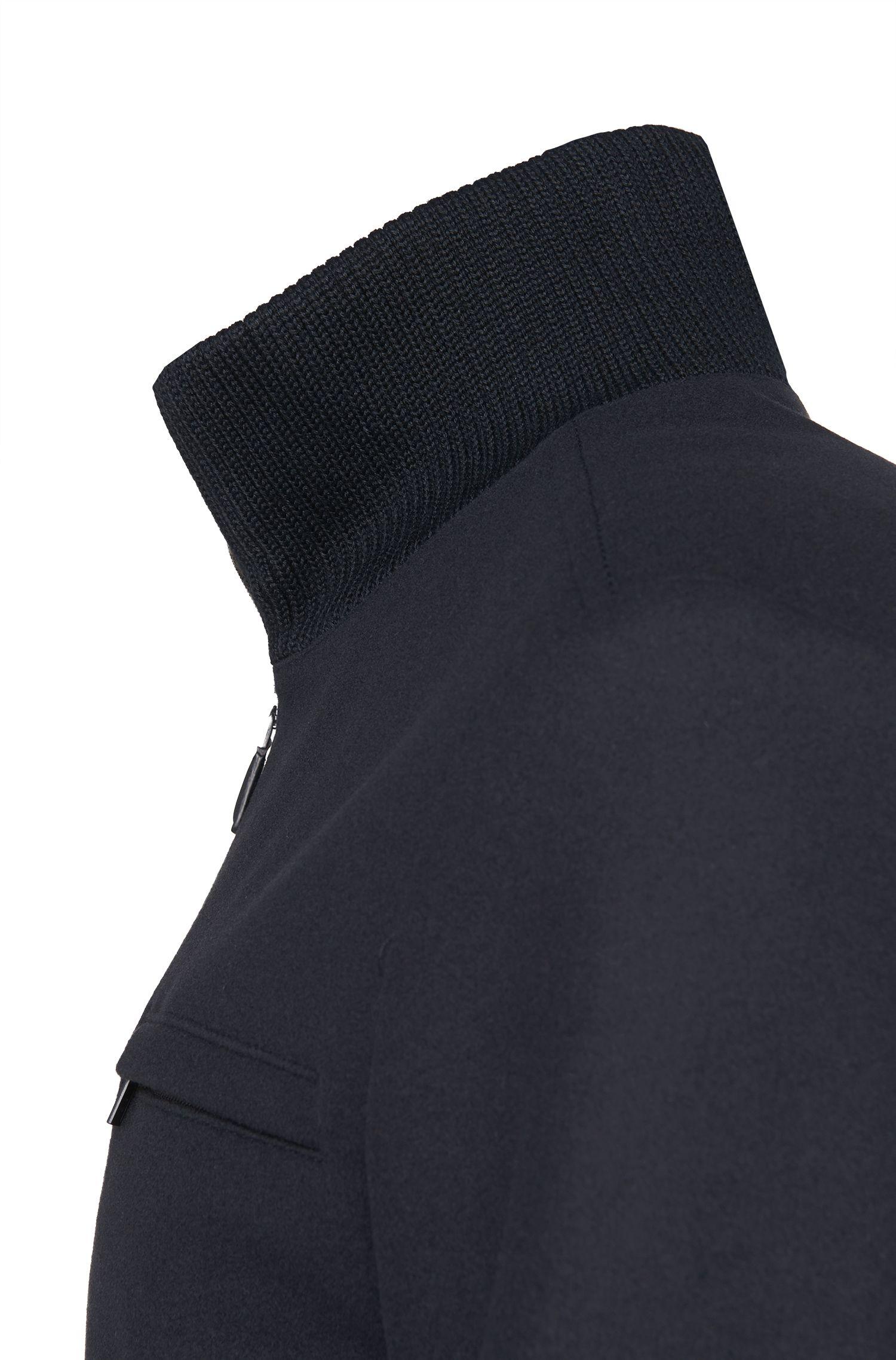 Jacke aus Schurwoll-Mix im College-Stil: 'Belvor'