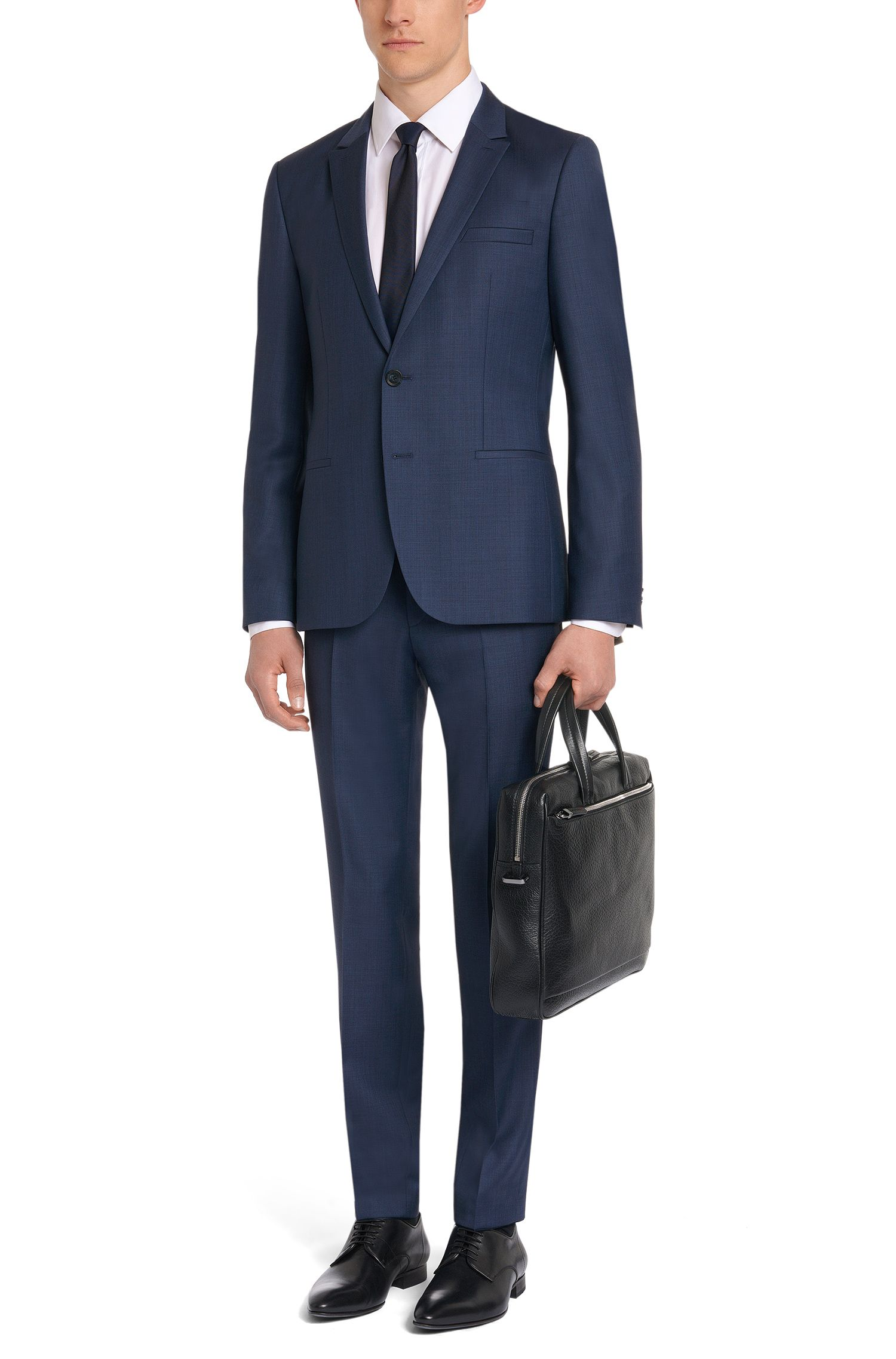 Slim-Fit Anzug aus reiner Schurwolle: 'Adan1/Hallins'