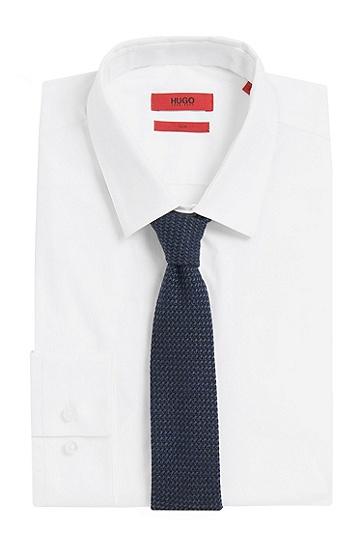 Krawatte aus reiner Wolle: 'Tie 6 cm', Dunkelblau