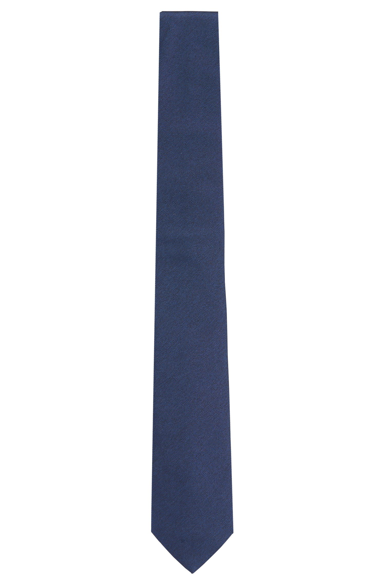 Tailored silk tie with fluted texture: 'T-Tie 6 cm'