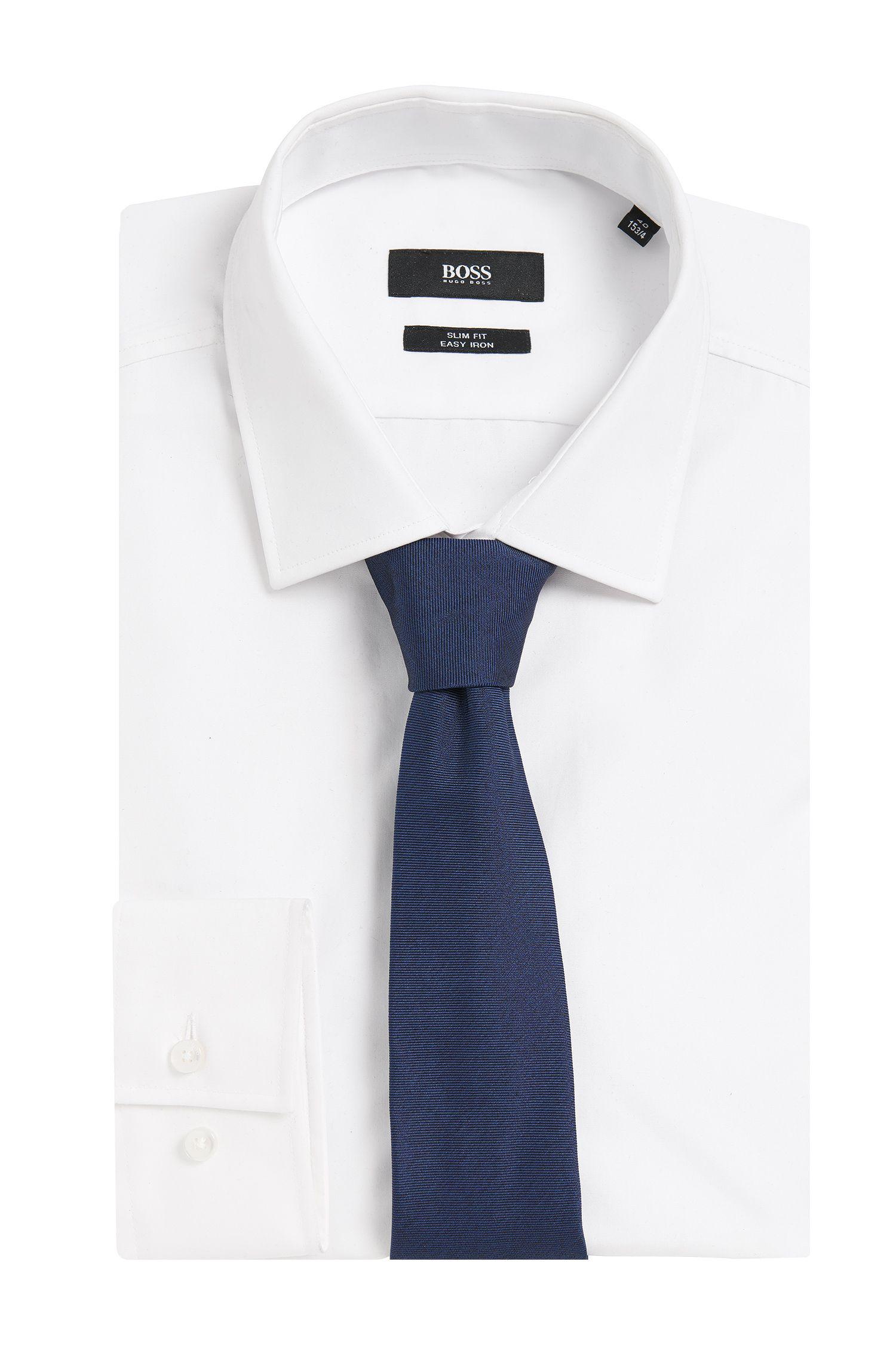 Cravate Tailored en soie présentant une texture rainurée: «T-Tie6cm»