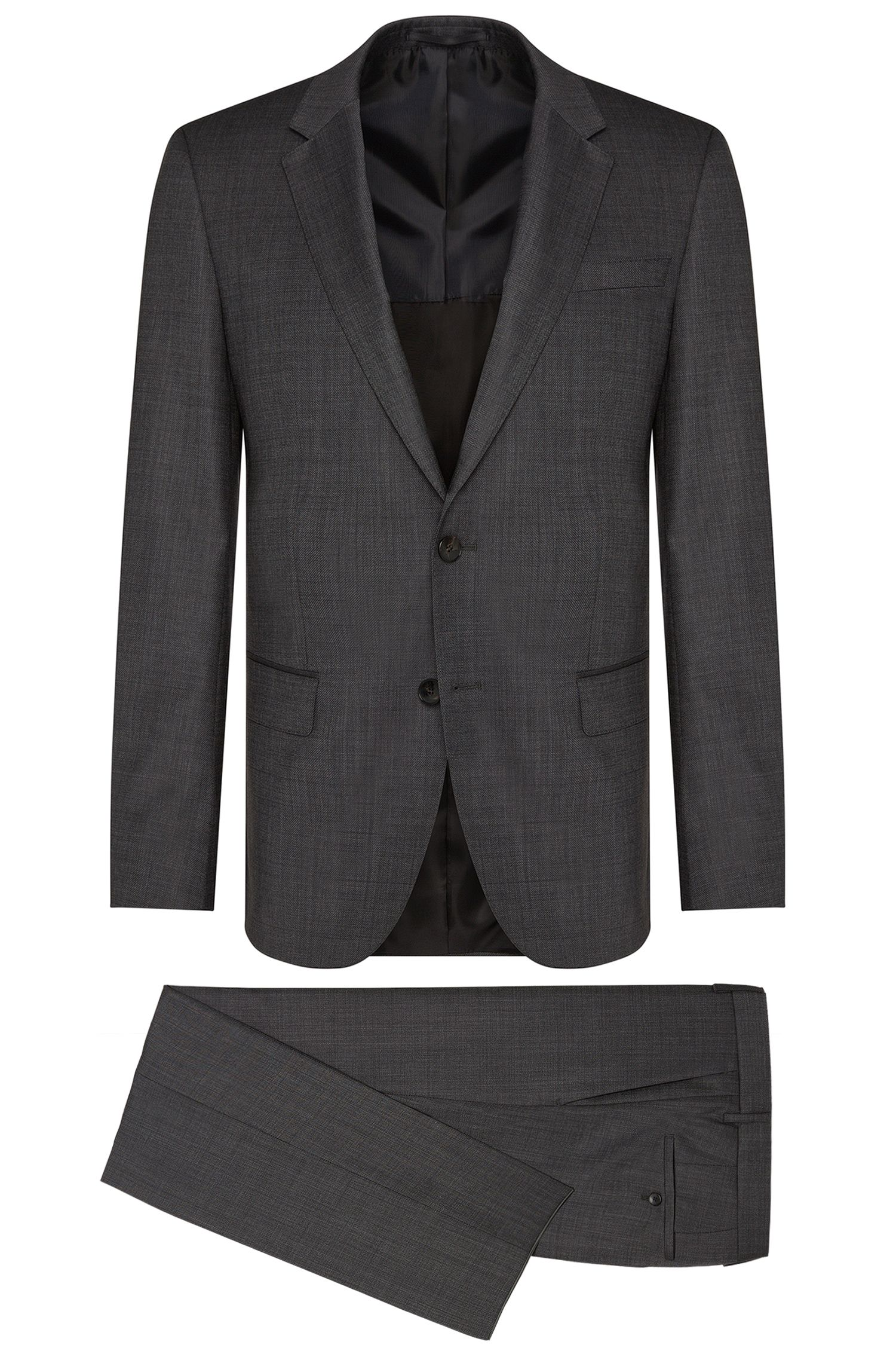 Slim-fit suit in pure new wool: 'Huge4/Genesis3'
