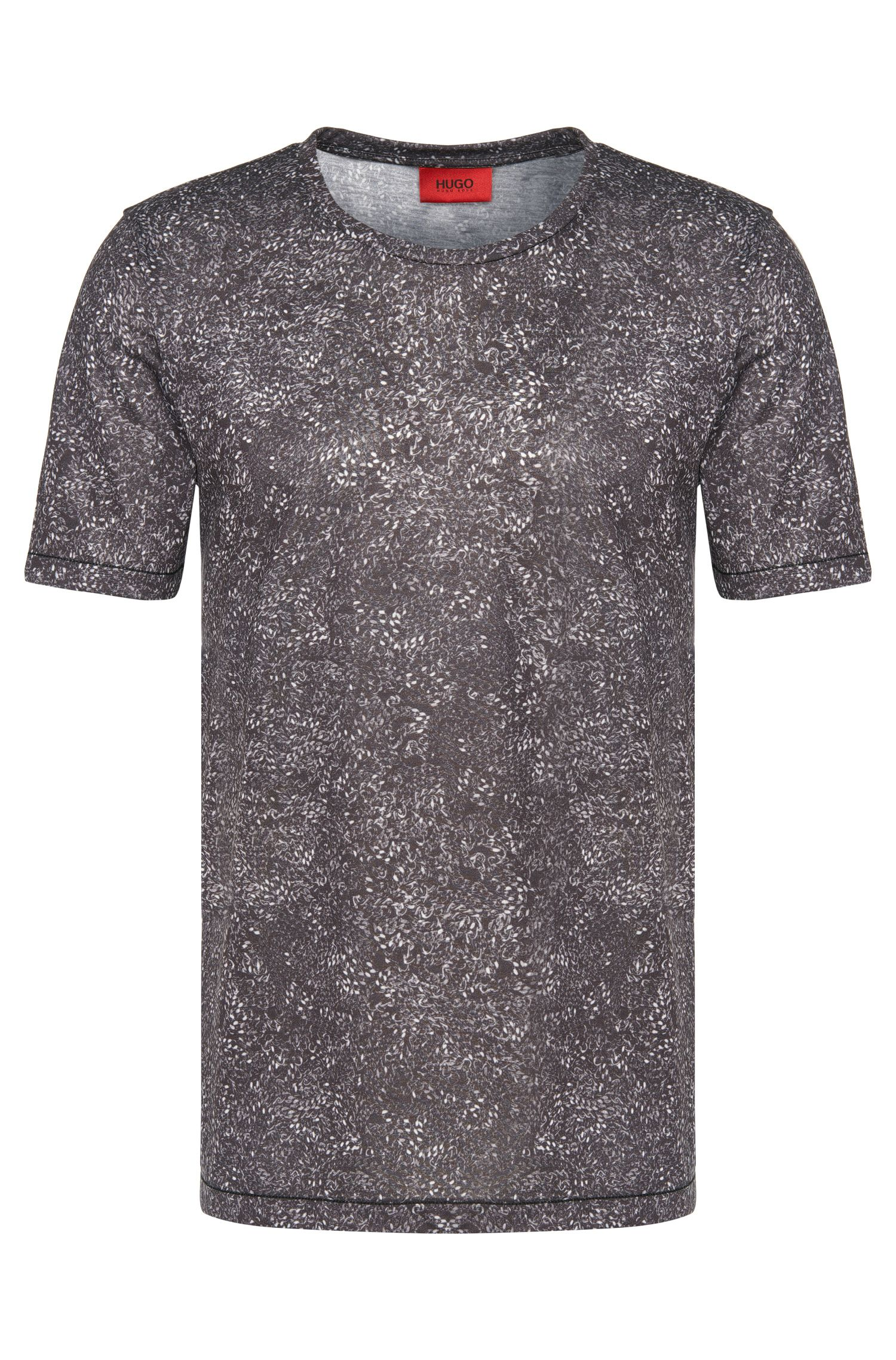 Loose-fit T-shirt met dessin: 'Dchain'