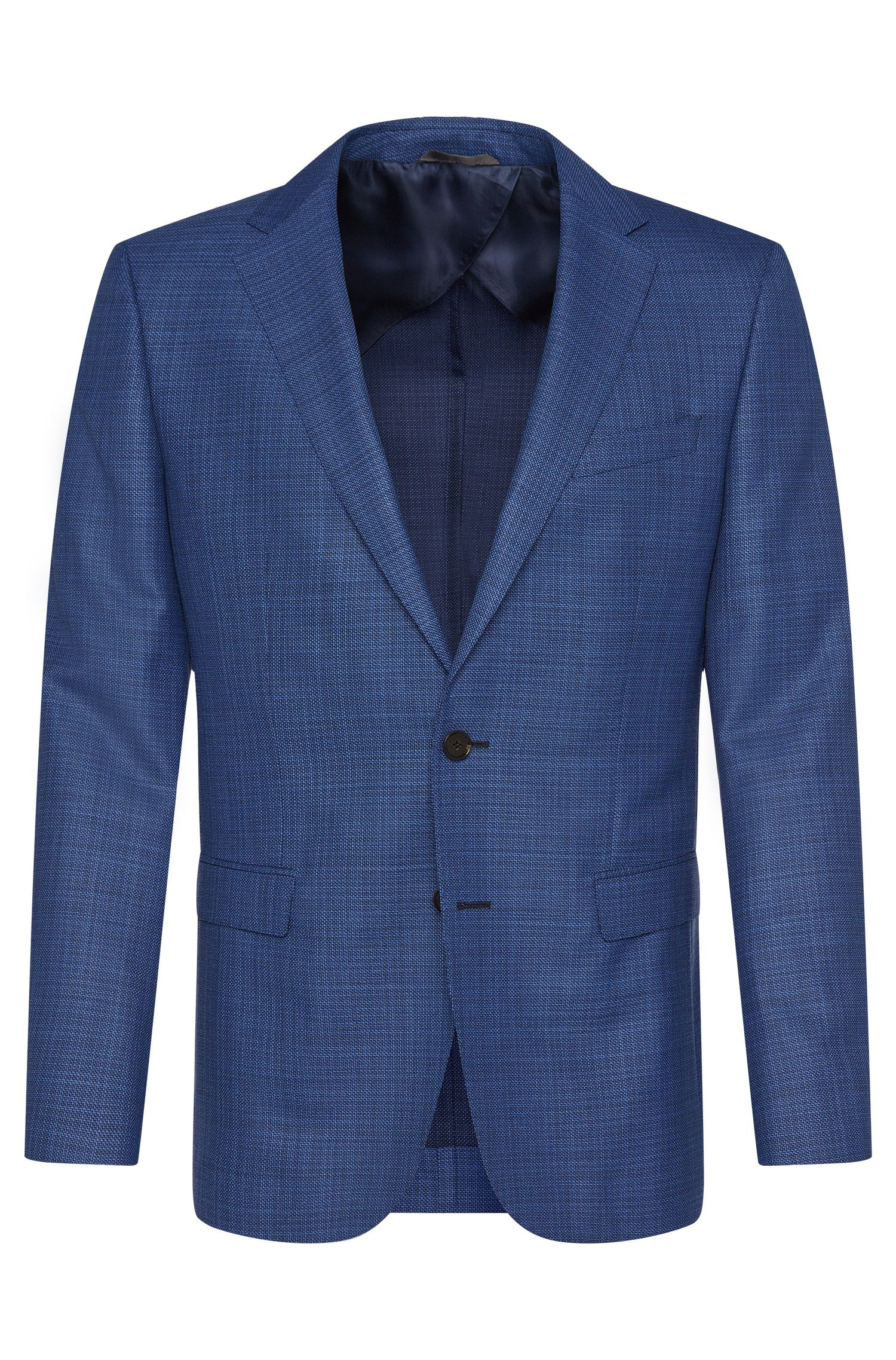 Patterned slim-fit jacket in new wool: 'Nobis2'