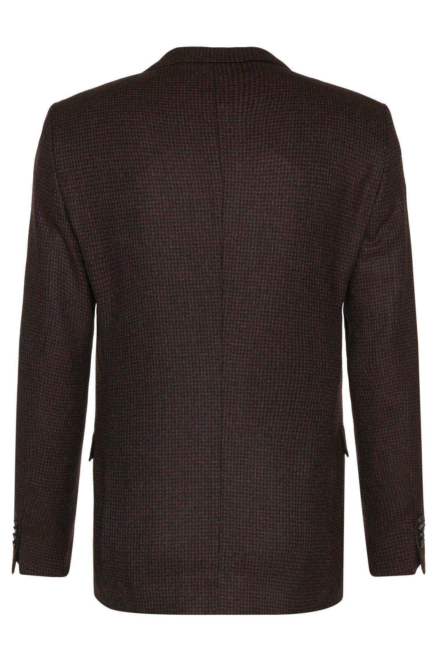 Veste de costume Slim Fit en laine vierge à carreaux fins: «Nobis2»