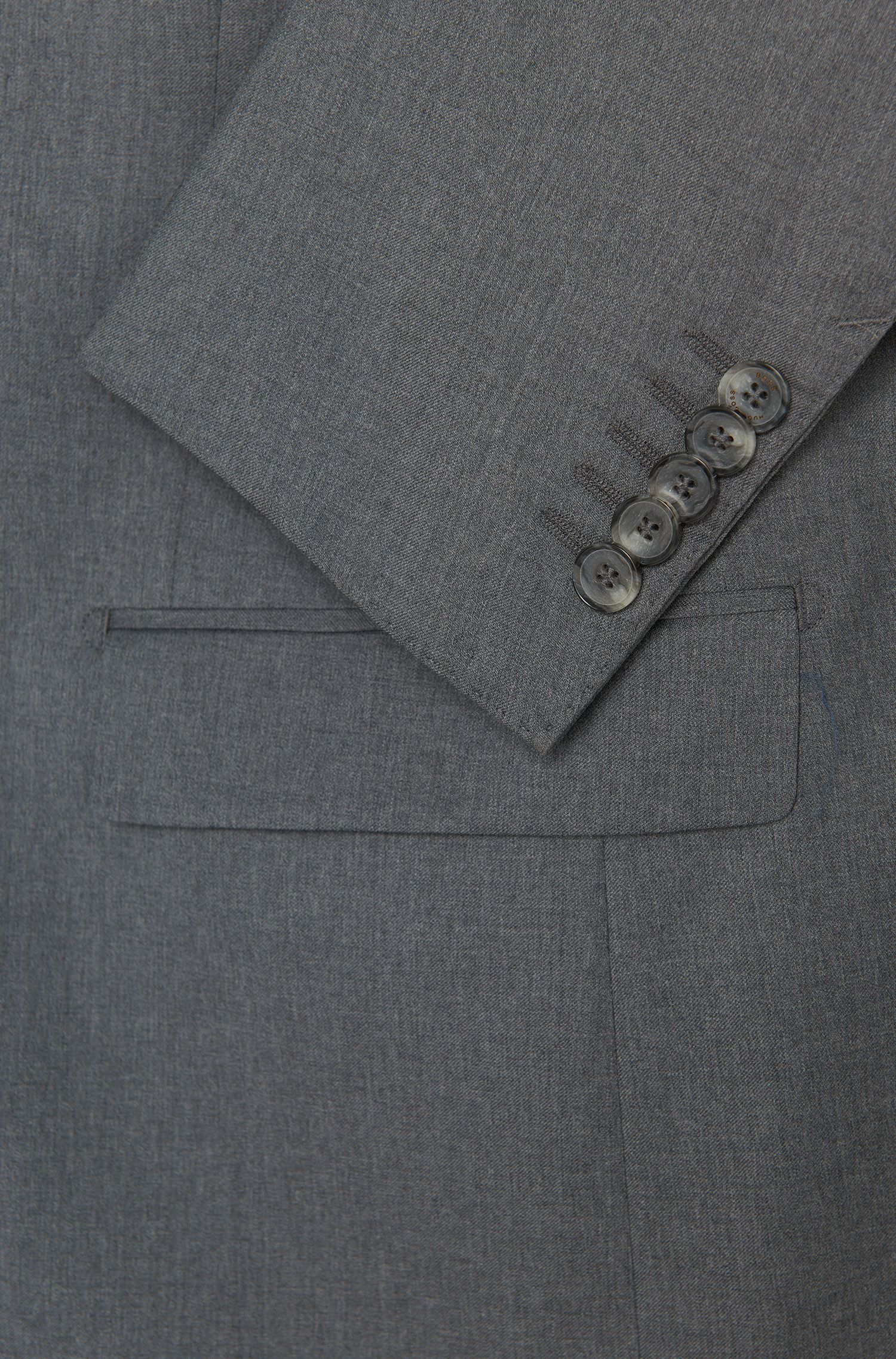 Costume Slim Fit Tailored en laine vierge chinée: «T-Harvers2/Glover1»
