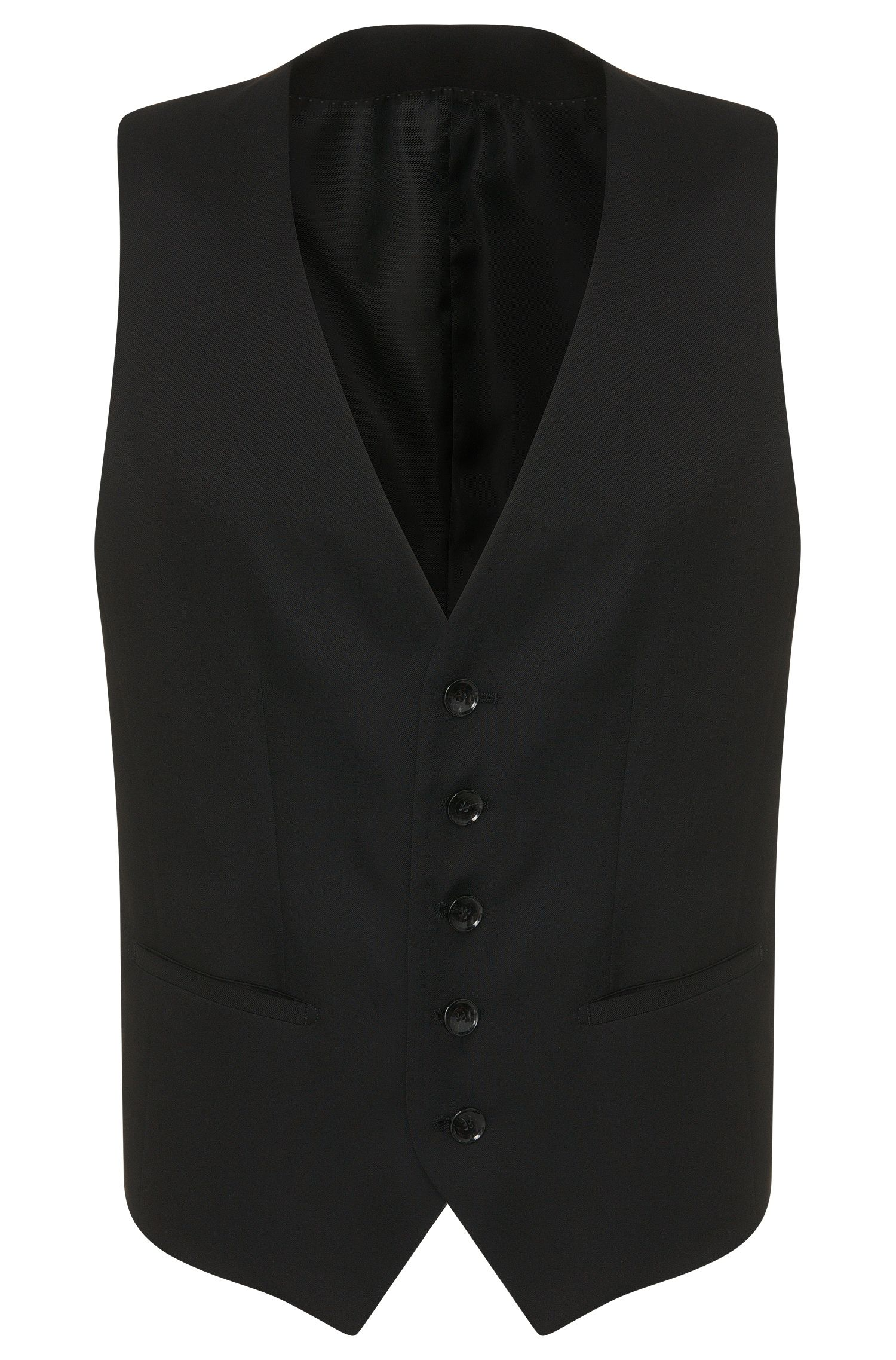 Slim-fit gilet van scheerwol uit de Tailored-collectie: 'T-Harvers2 WE2'