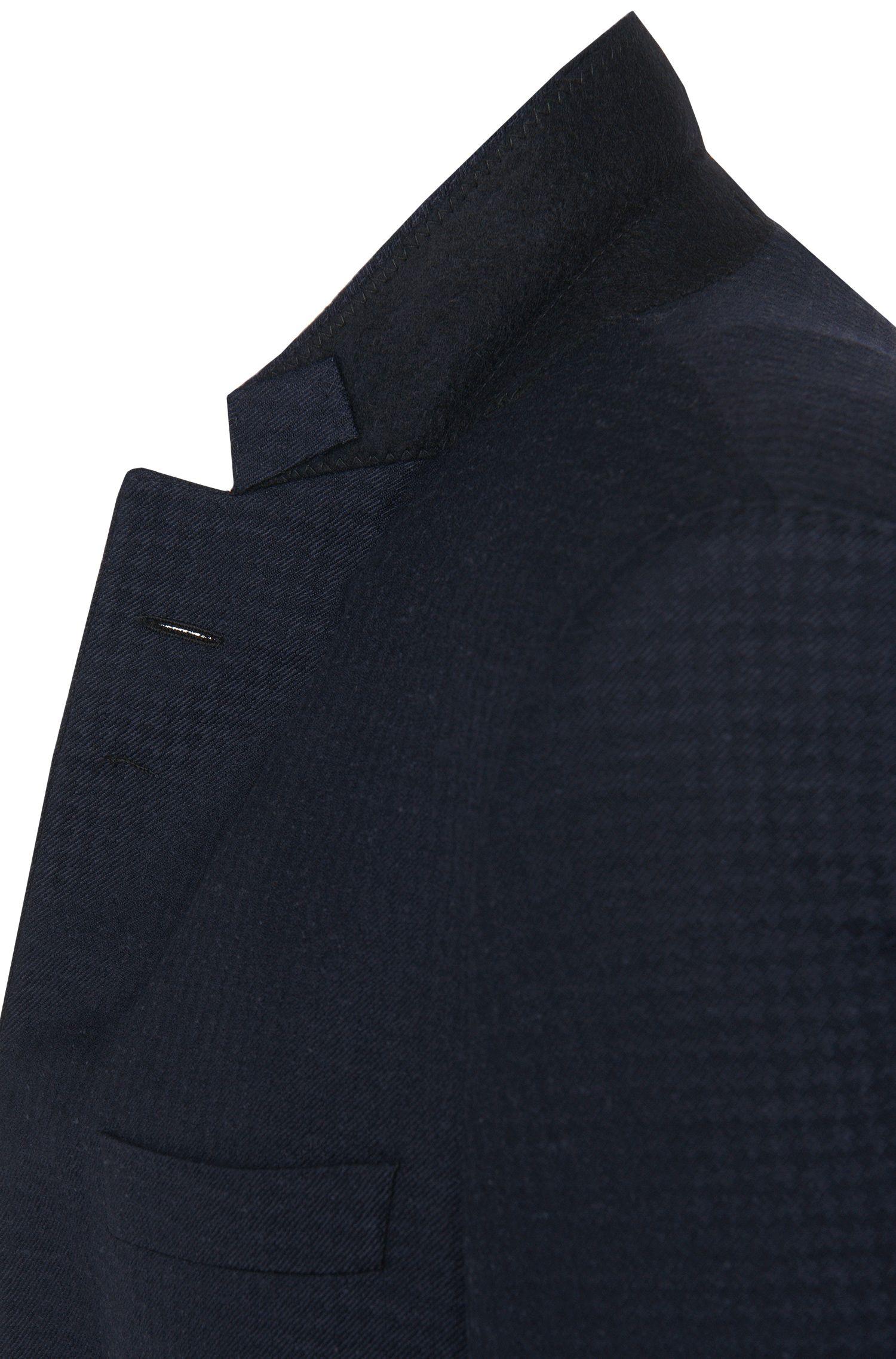 Gemustertes Extra Slim-Fit Tailored-Sakko aus Schurwoll-Mix mit Seide: 'T-Reece'