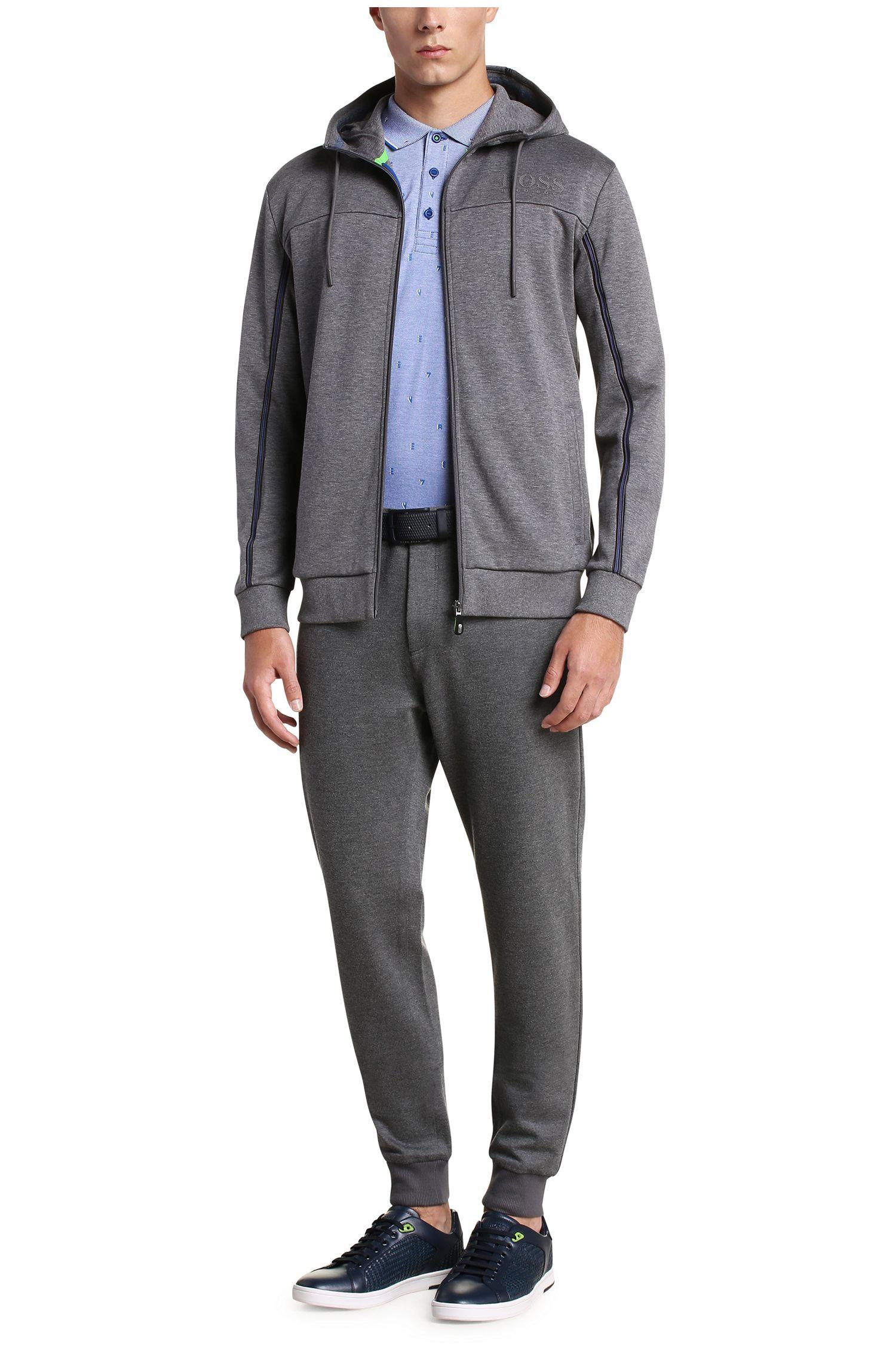 Regular-Fit Sweatshirt-Jacke aus Baumwoll-Mix: ´Saggy`