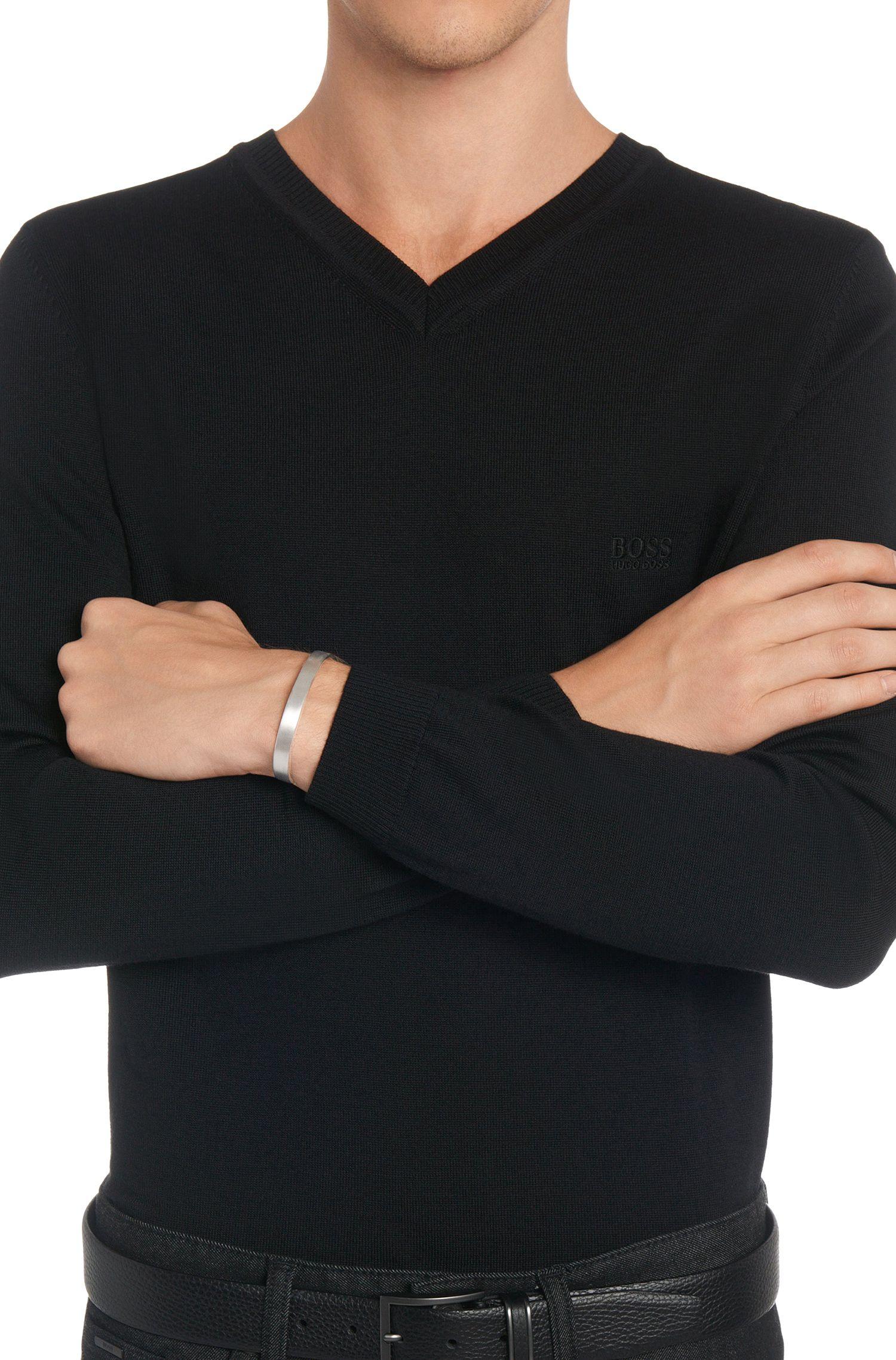 Armband van sterlingzilver met geborsteld oppervlak: 'Bernard'