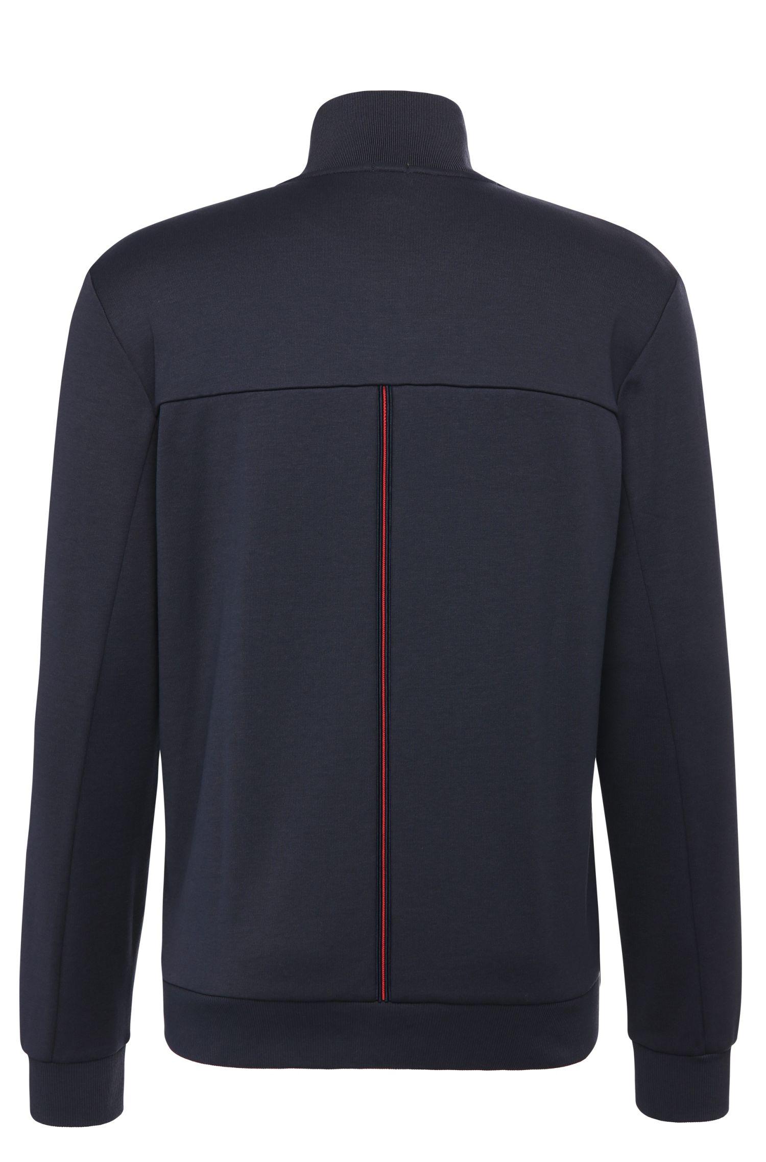 Regular-Fit Sweatshirt-Jacke aus Baumwoll-Mix: ´Skaz`