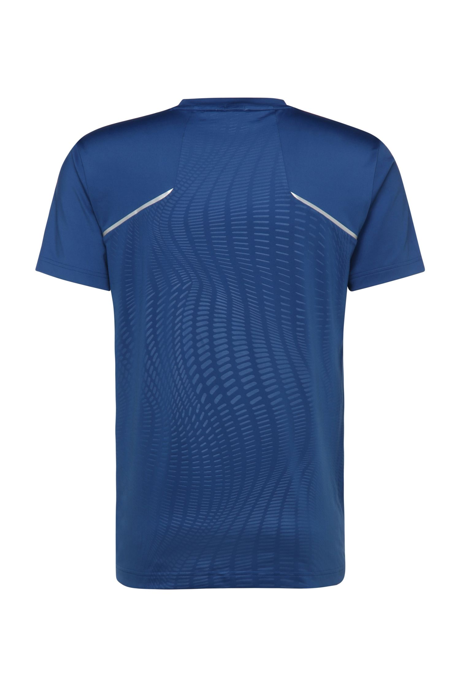 T-shirt imprimé Slim Fit en mélange de matières: «Tianotech»