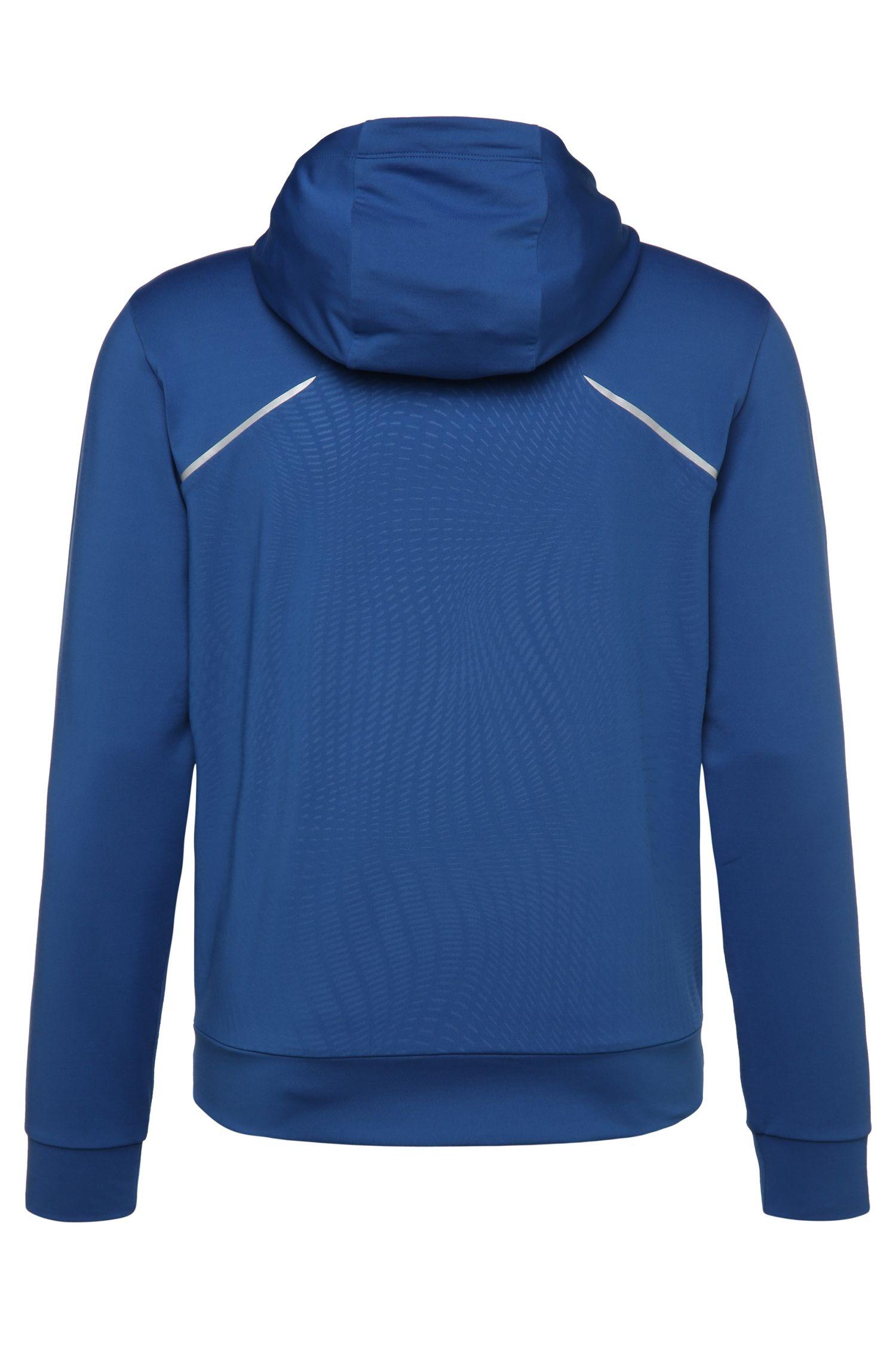 Regular-Fit Sweatshirt-Jacke aus elastischem Material-Mix: ´Saggytech`