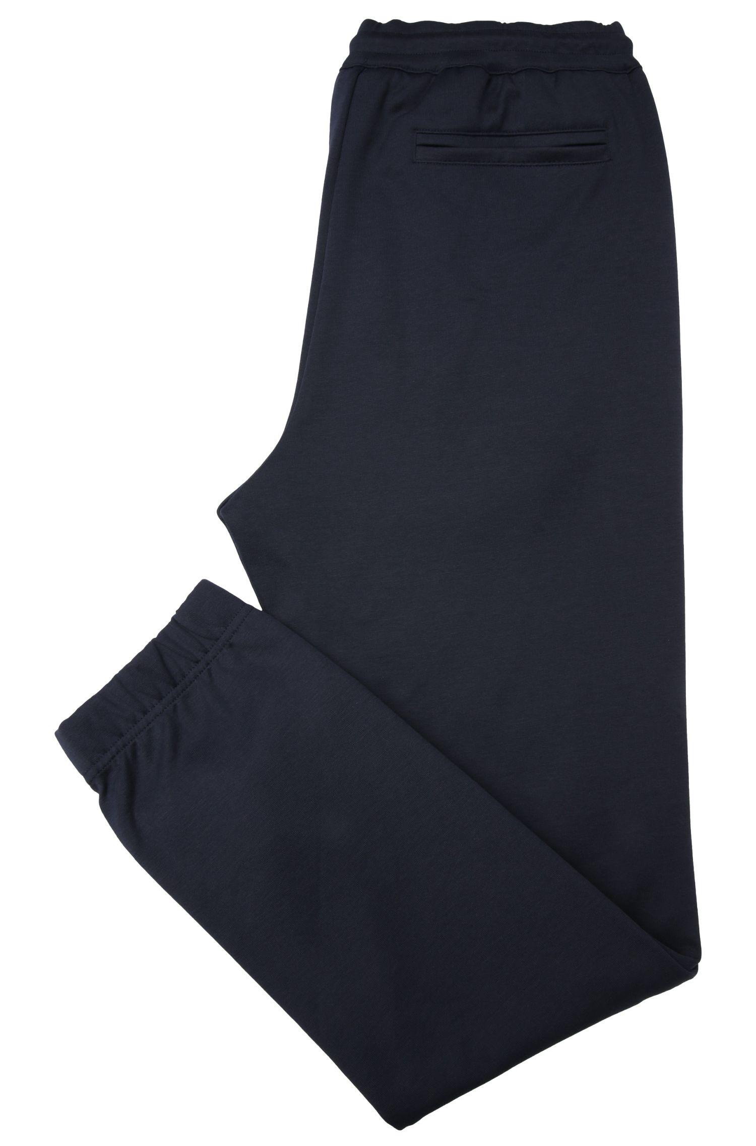 Gemêleerde regular-fit joggingbroek van een katoenmix: 'Hadiko'