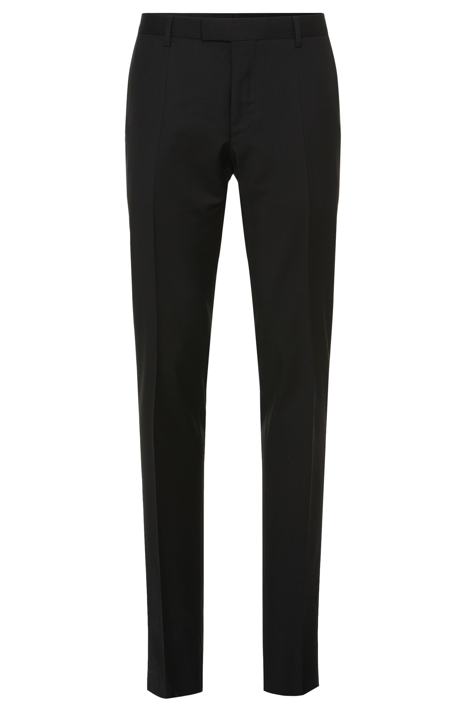 Pantalon Slim Fit Tailored en pure laine vierge : « T-Court5 »