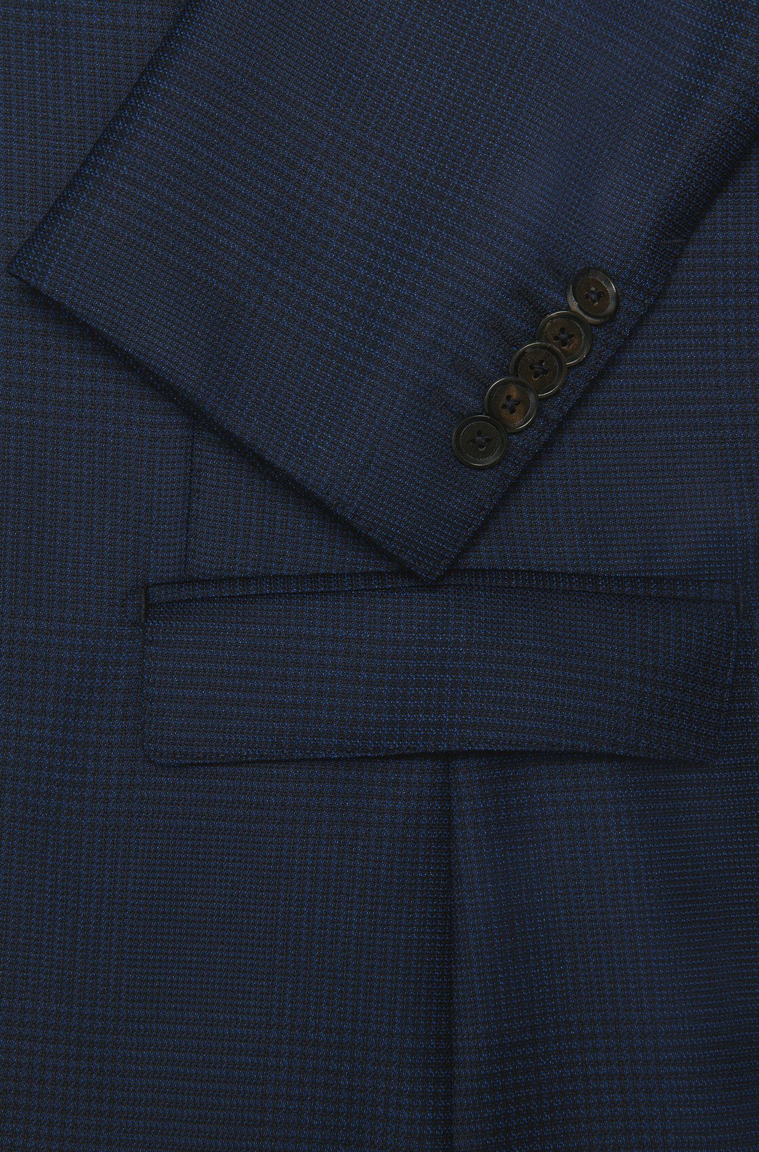 Slim-fit colbert uit de Tailored-collectie, van een scheerwolmix met zijde: 'T-Norwel'