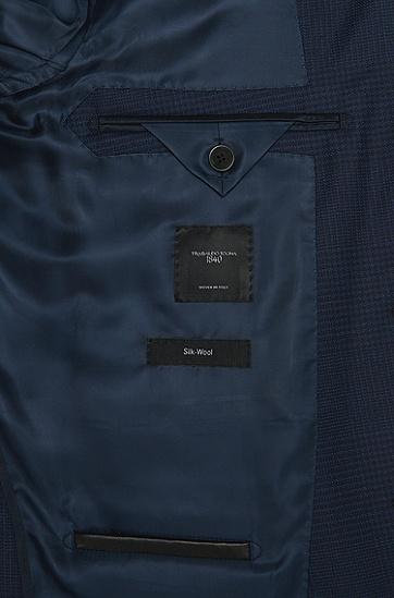 Slim-Fit Tailored Sakko aus Schurwoll-Mix mit Seide: 'T-Norwel', Hellblau