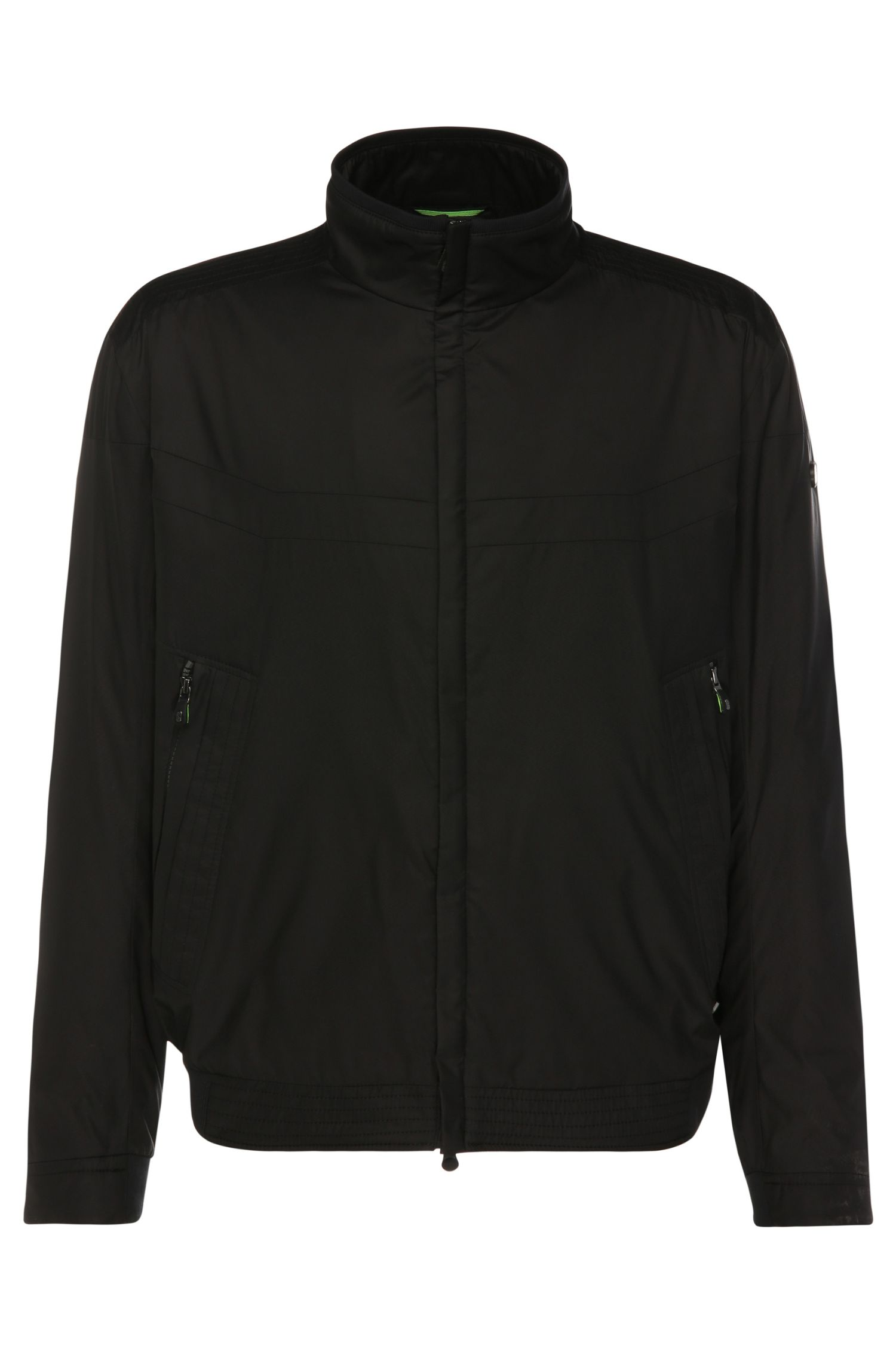 Regular-fit bomber jacket in fabric blend: 'B-Jakes'