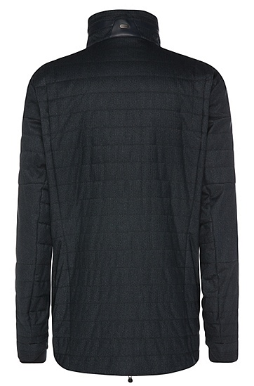 Regular-Fit Jacke aus strukturiertem Material-Mix: ´B-Corkins`, Dunkelblau