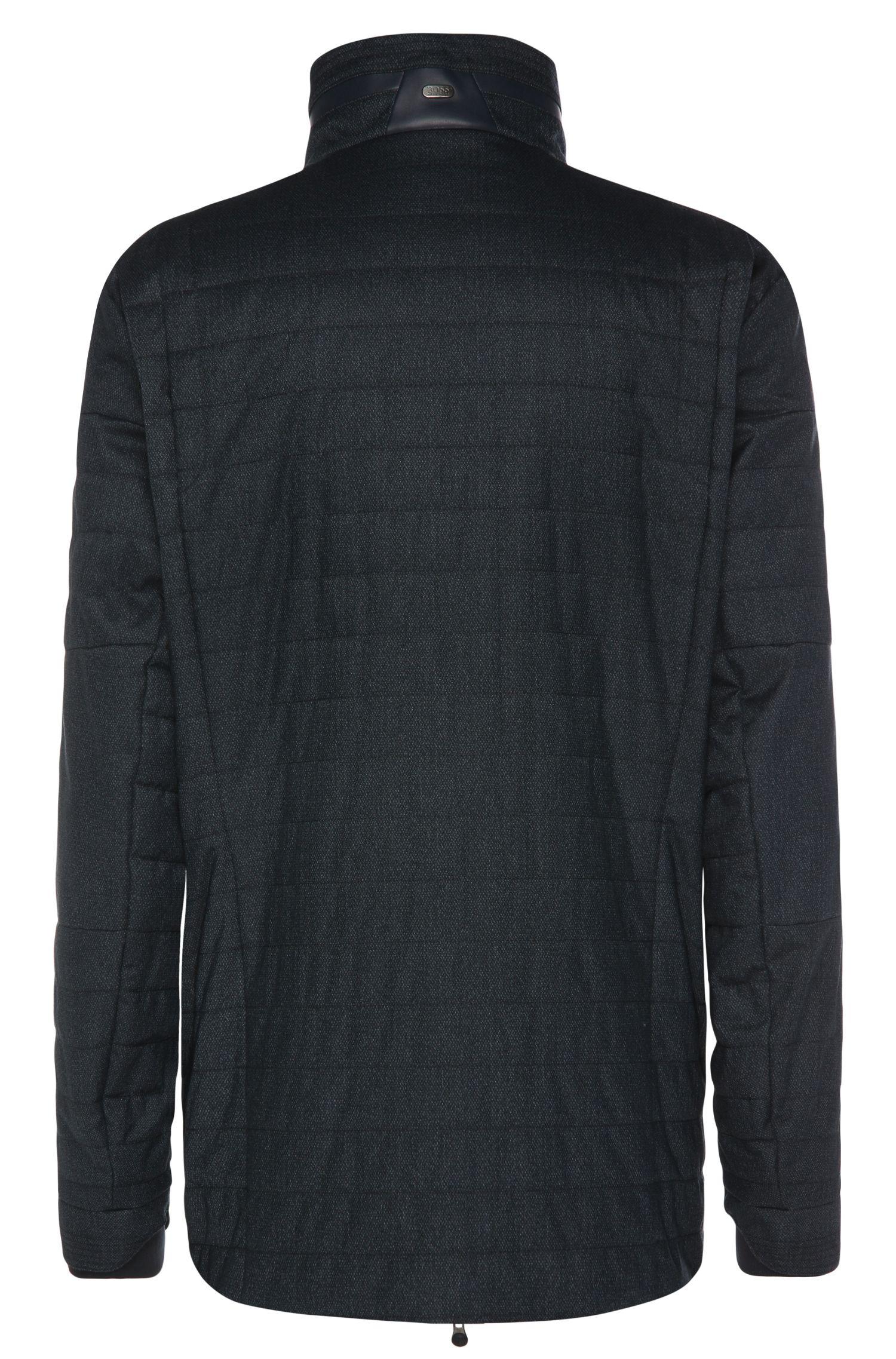Regular-fit jas van een gestructureerde materiaalmix: 'B-Corkins'