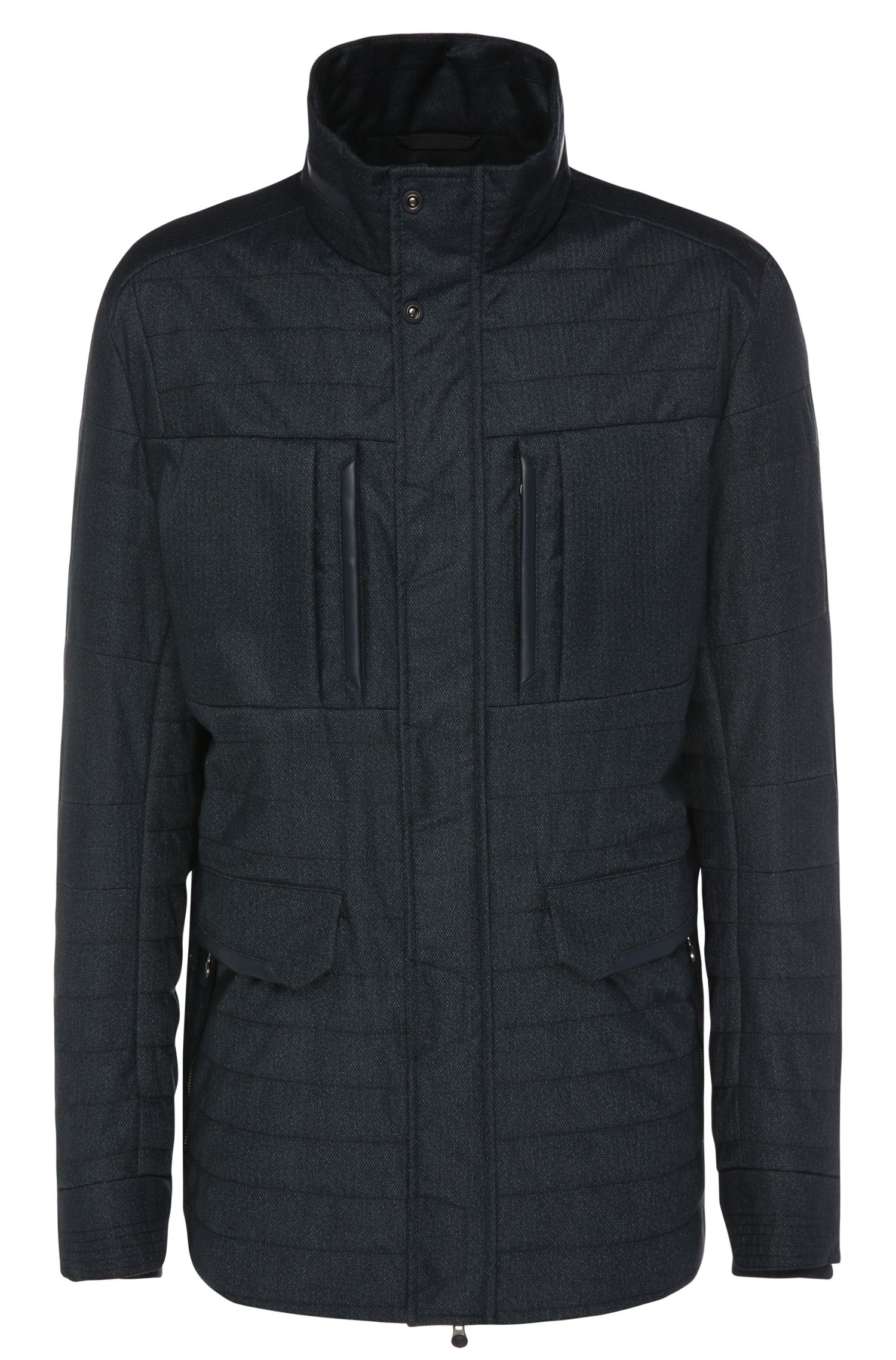 Regular-fit jacket in textured fabric blend: 'B-Corkins'