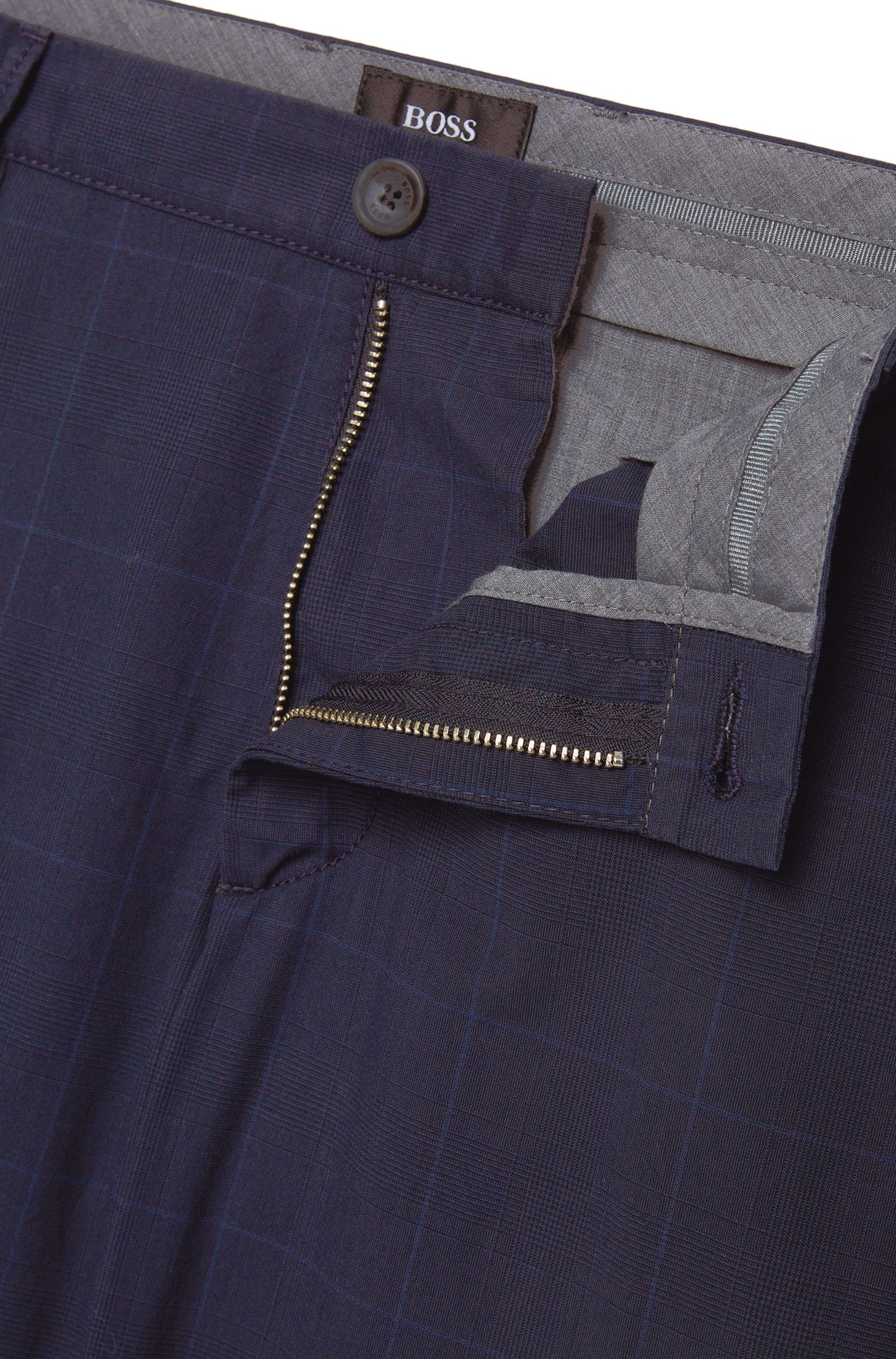 Slim-Fit Chino aus Baumwolle mit Tartan-Muster: 'Rice4-W'
