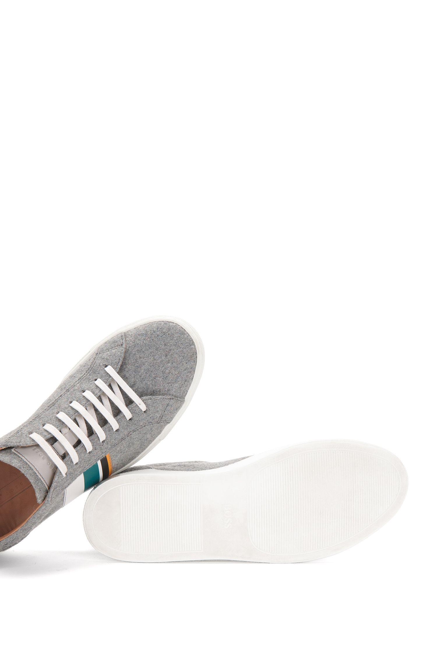 Sneakers aus Filz mit Leder-Details: 'Low Cut LB'