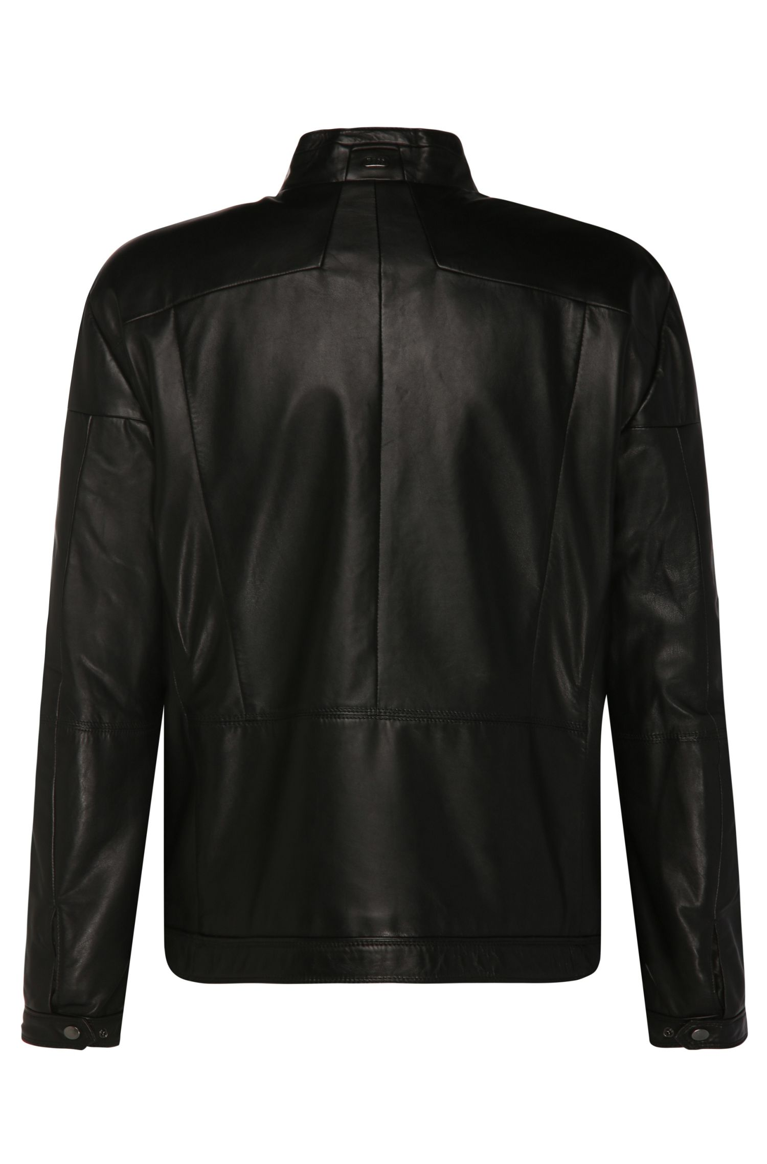 Blouson motard en cuir Regular Fit : « B-Jordes »