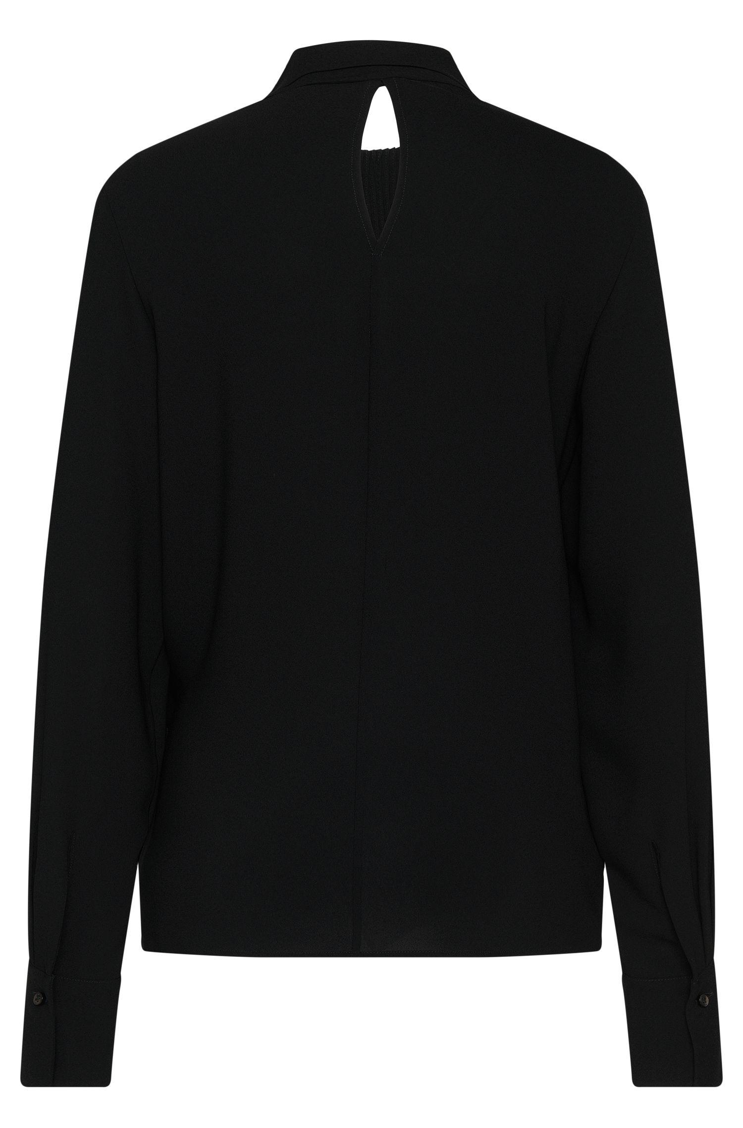 Bluse mit Biesen und Schalkragen: 'Banoki'