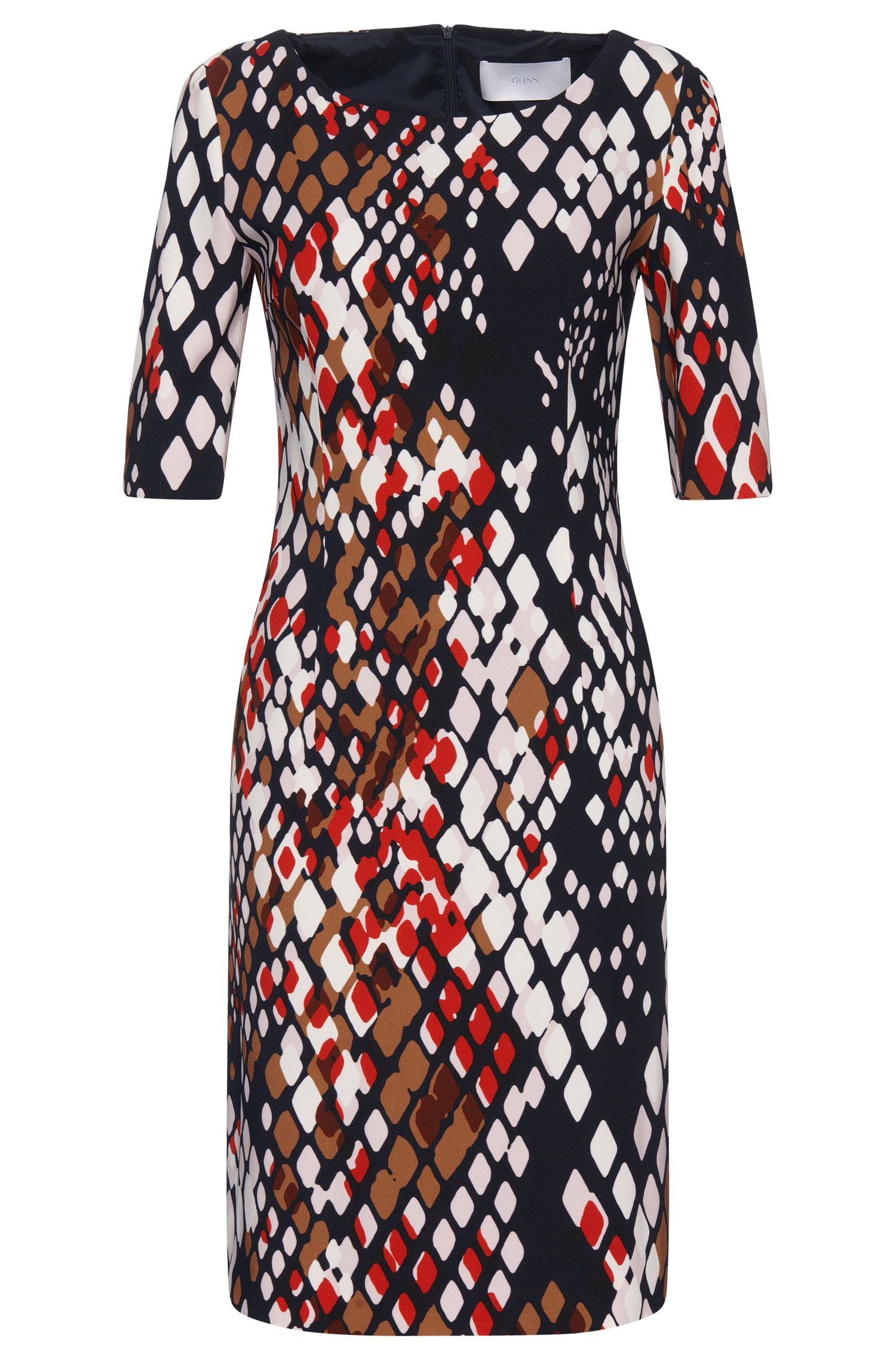 Patterned dress in stretch viscose: 'Dinormi2'