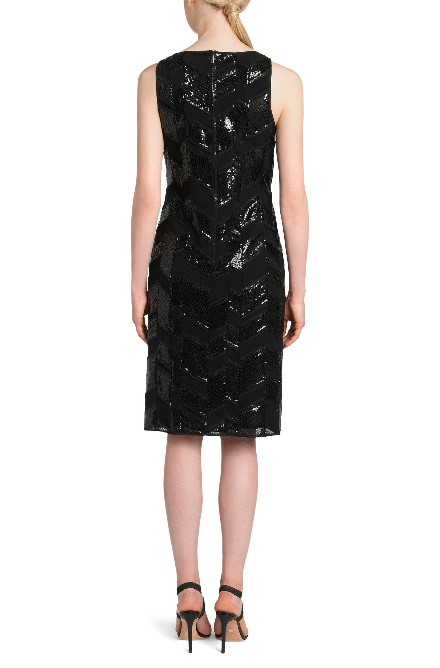 Ärmelloses Pailletten-Kleid mit Chevron-Muster:  'Dephani'