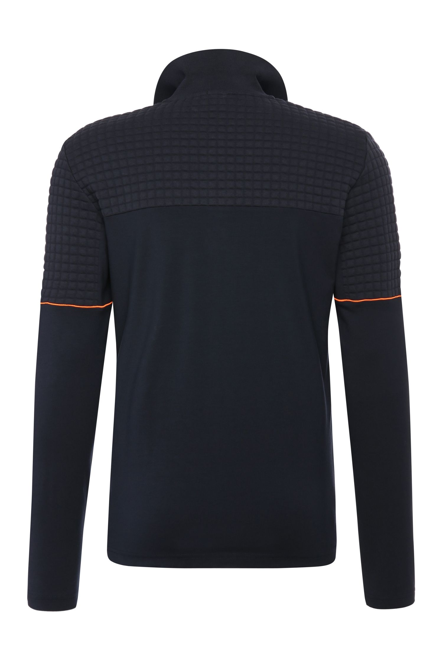 Polo à manches longues Regular Fit en coton extensible: «Plisy1»