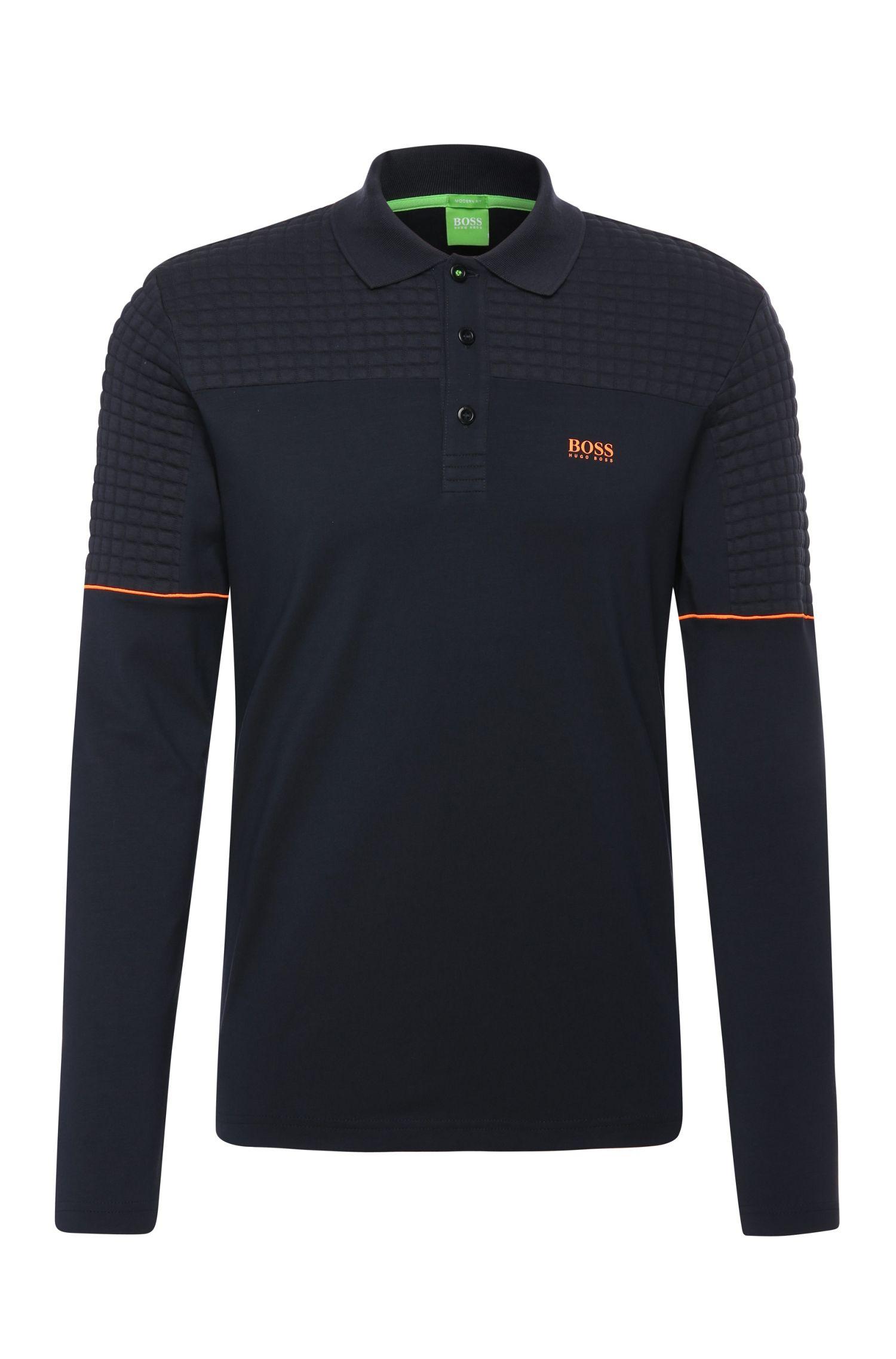 Maglietta polo a maniche lunghe regular fit in cotone elasticizzato: 'Plisy 1'