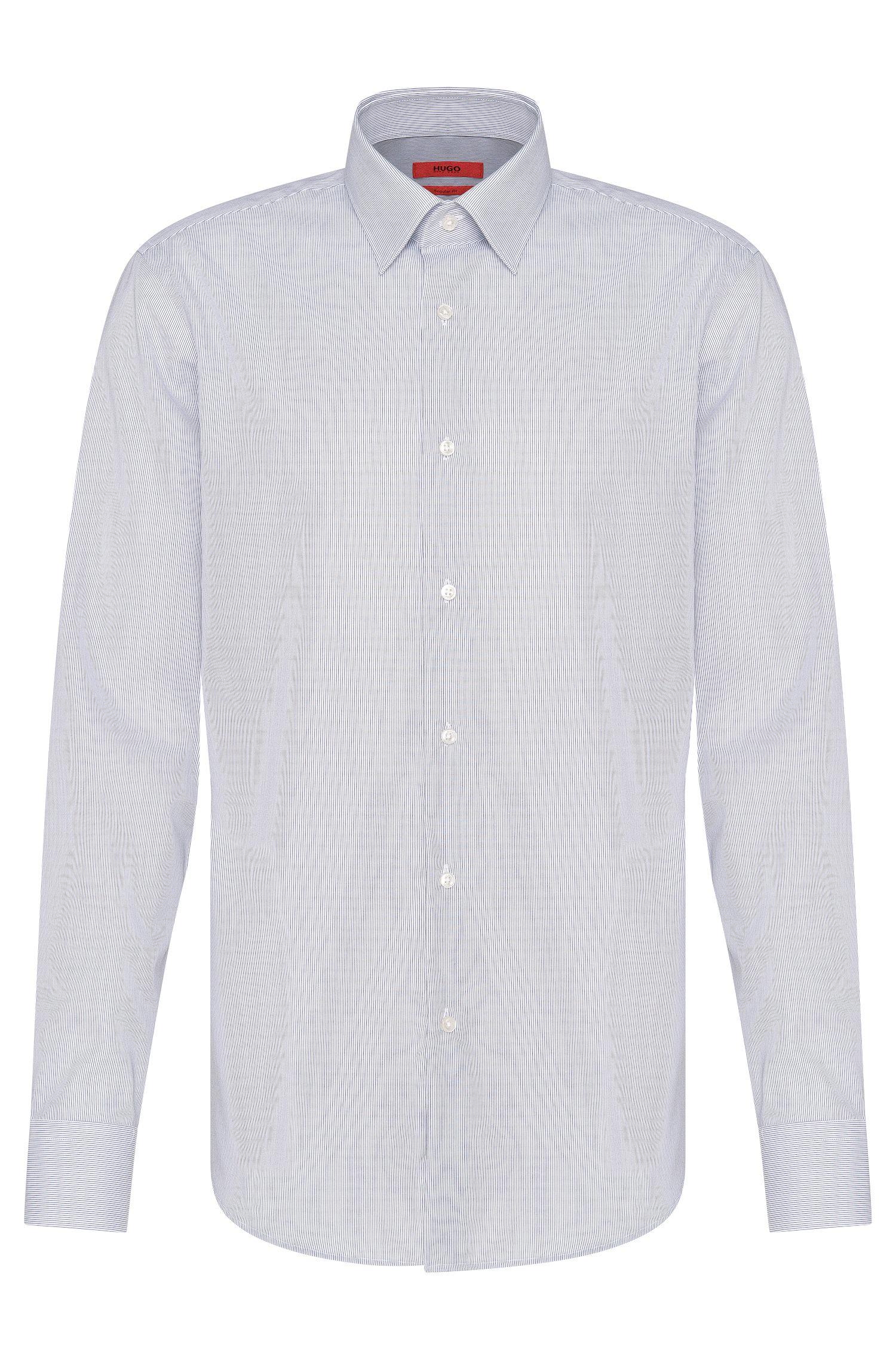 Camicia a righe regular fit in cotone: 'C-Enzo'