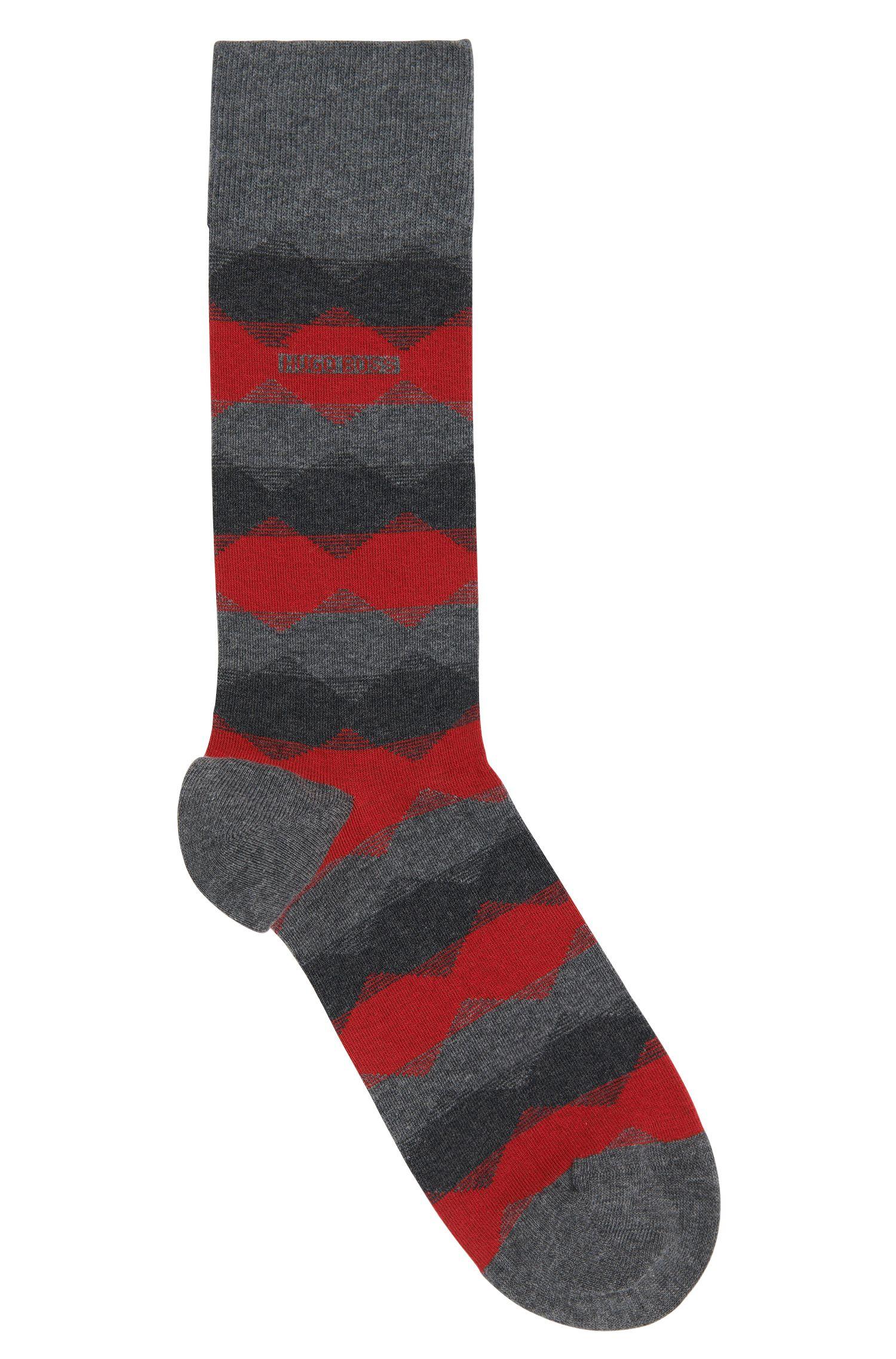 Chaussettes à motif en coton mélangé extensible: «RS Design»