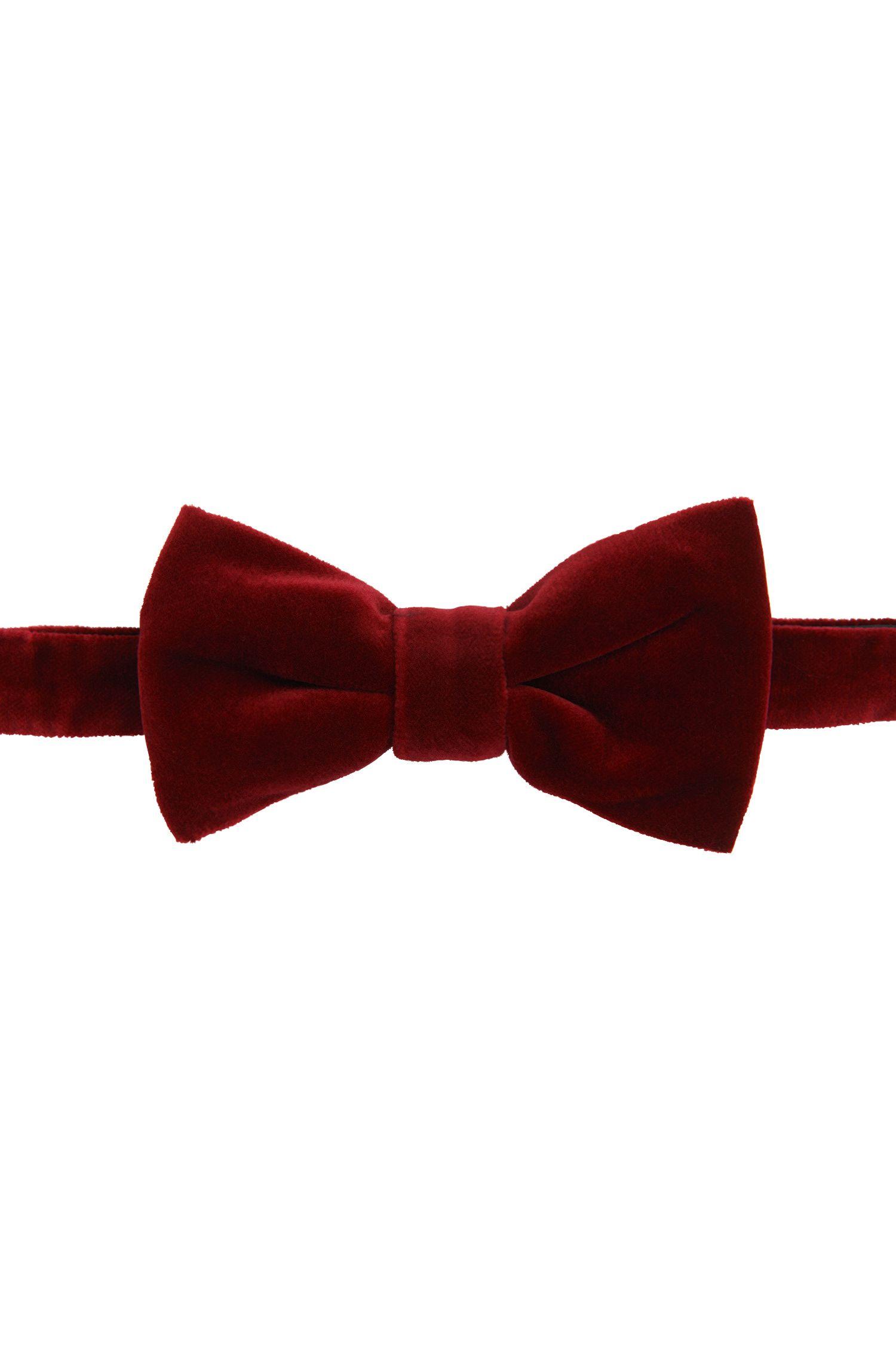 Nœud papillon en velours de coton stretch: «Bow tie big velvet»