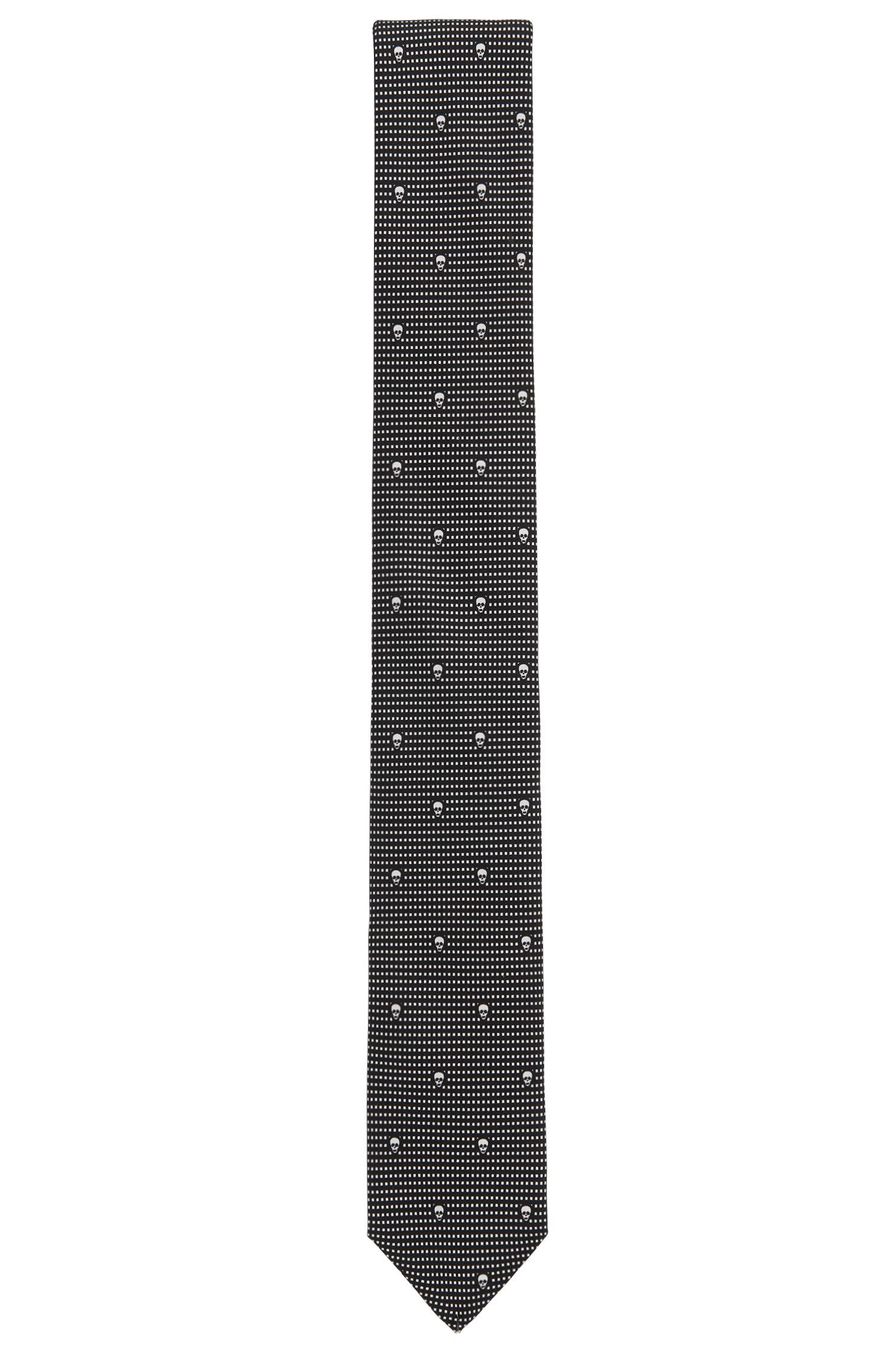 Gemusterte Krawatte aus reiner Seide: 'Tie cm 6'