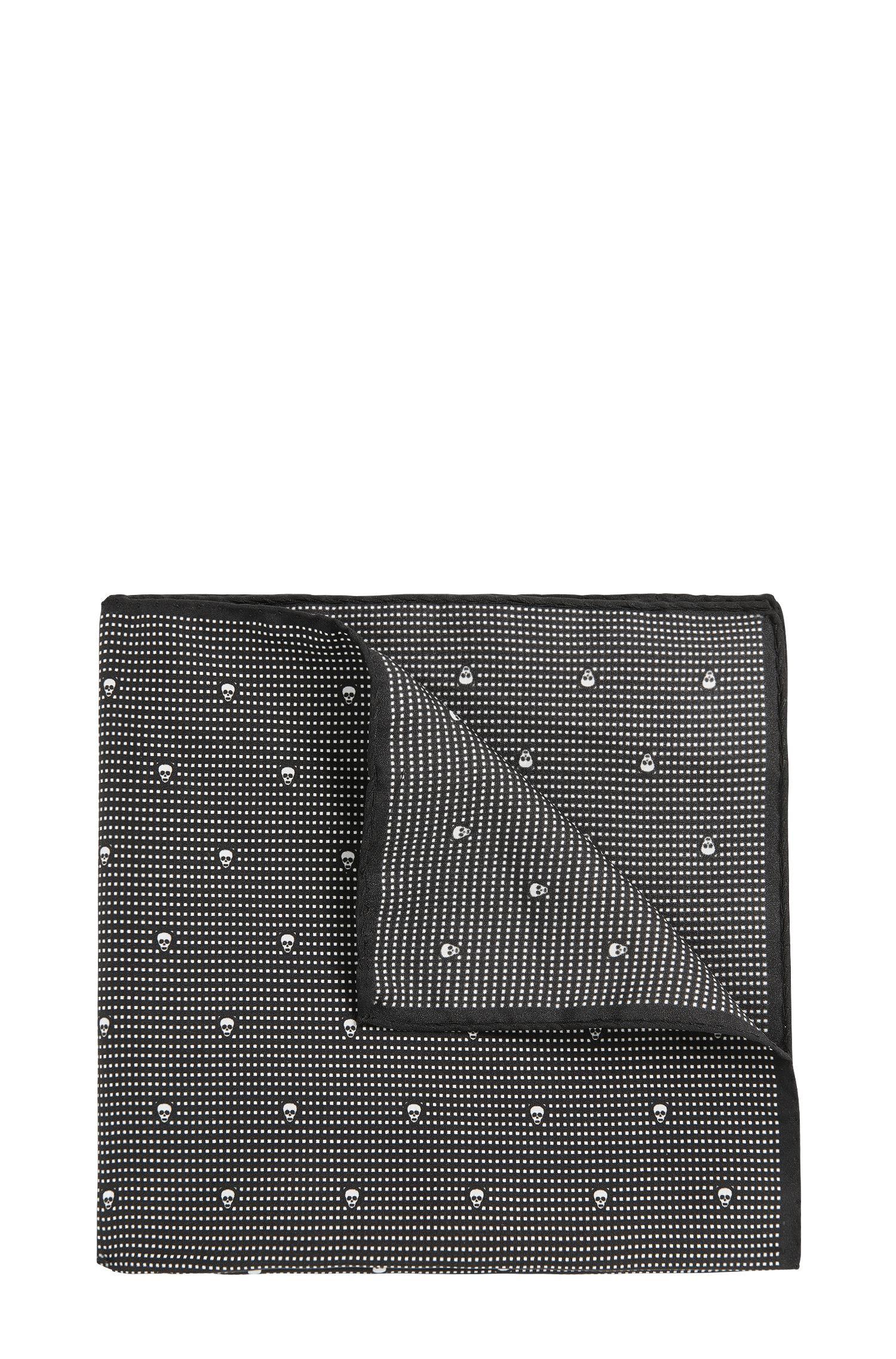 Gemustertes Einstecktuch aus reiner Seide: 'Pocketsquare 33x33cm'