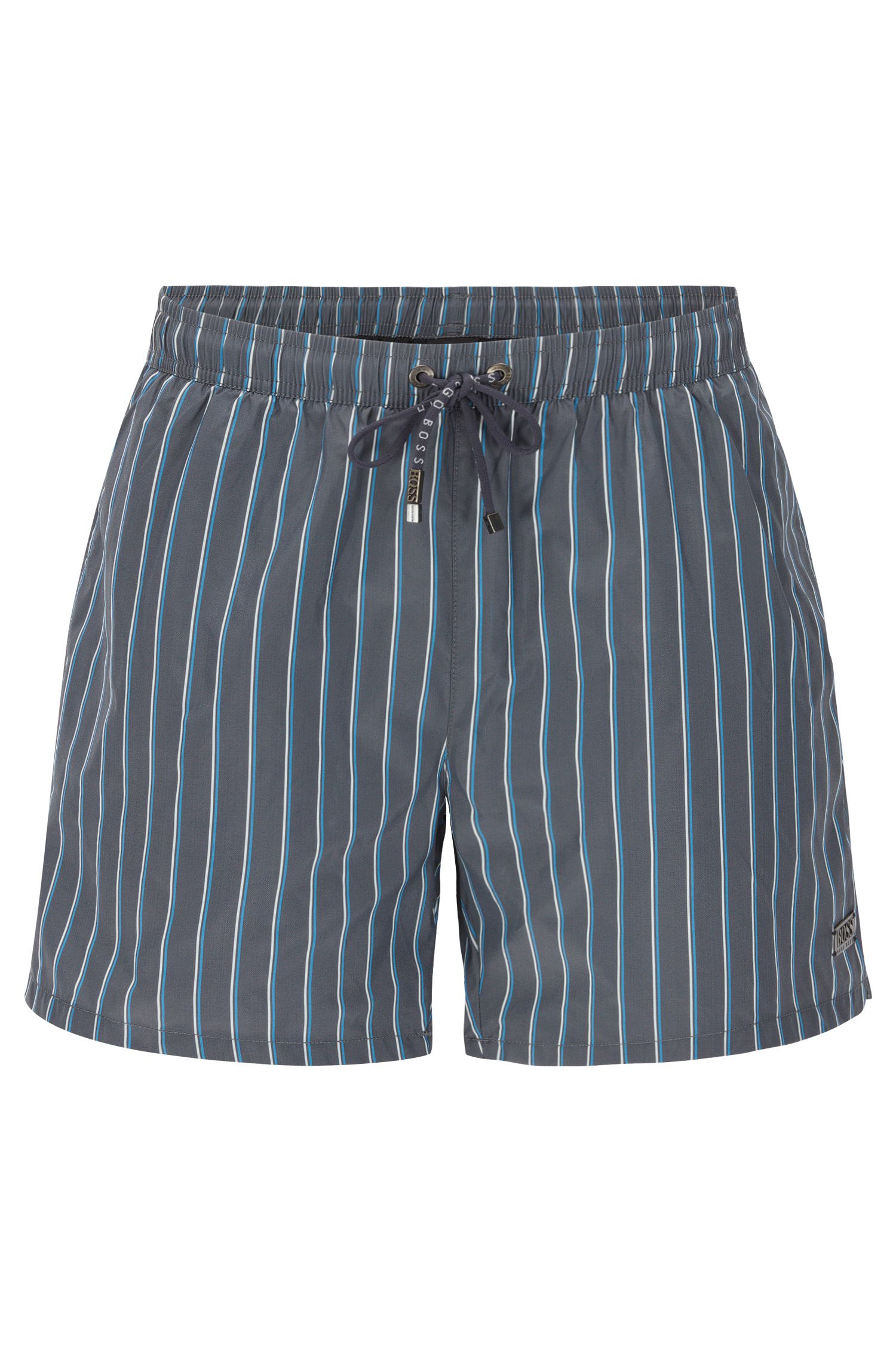 Striped swim shorts in a quick-drying fabric blend: 'Mandarinfish'